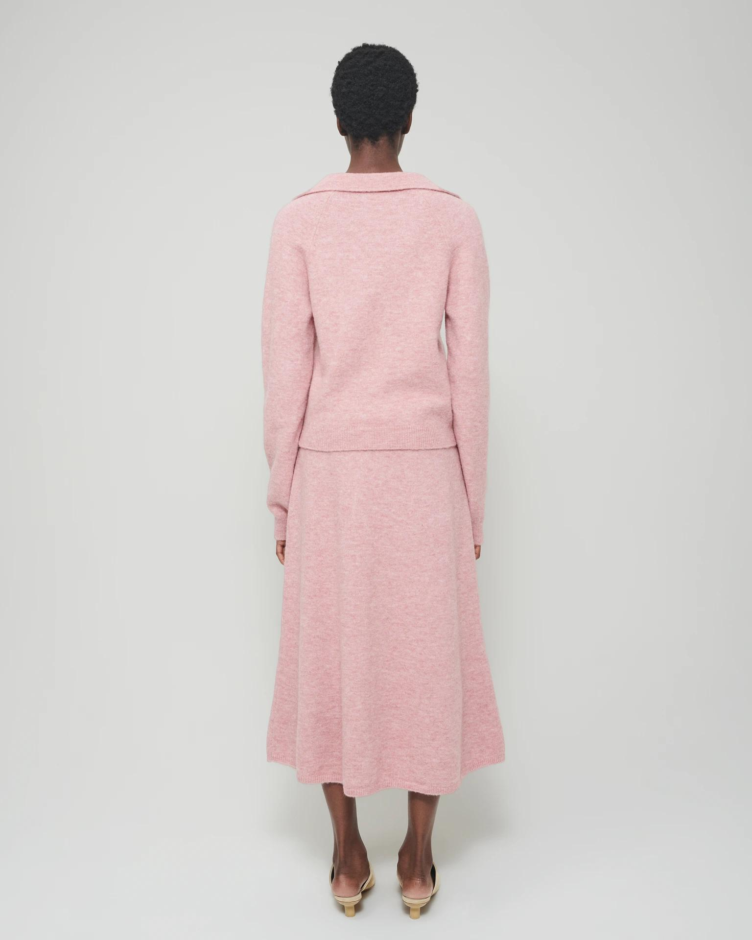 CADE - Fluffy-knit cardigan - Washed pink 1