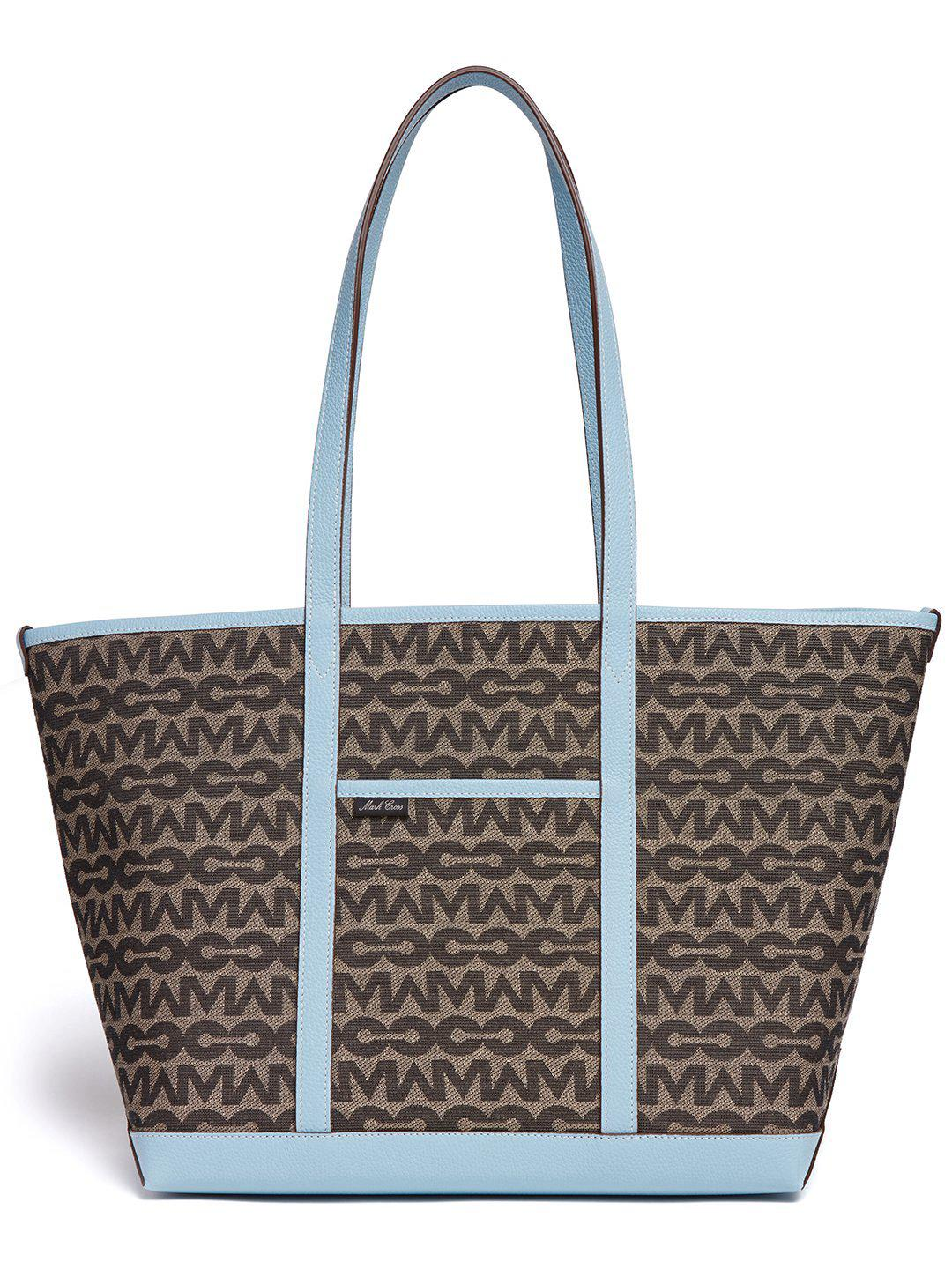 The Essentials Upcycled MC Jacquard & Leather Tote Bag 2