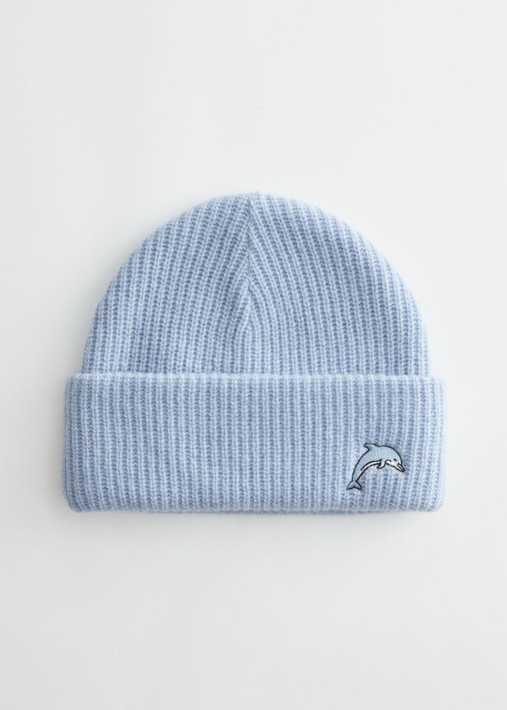 Dolphin Embroidered Beanie