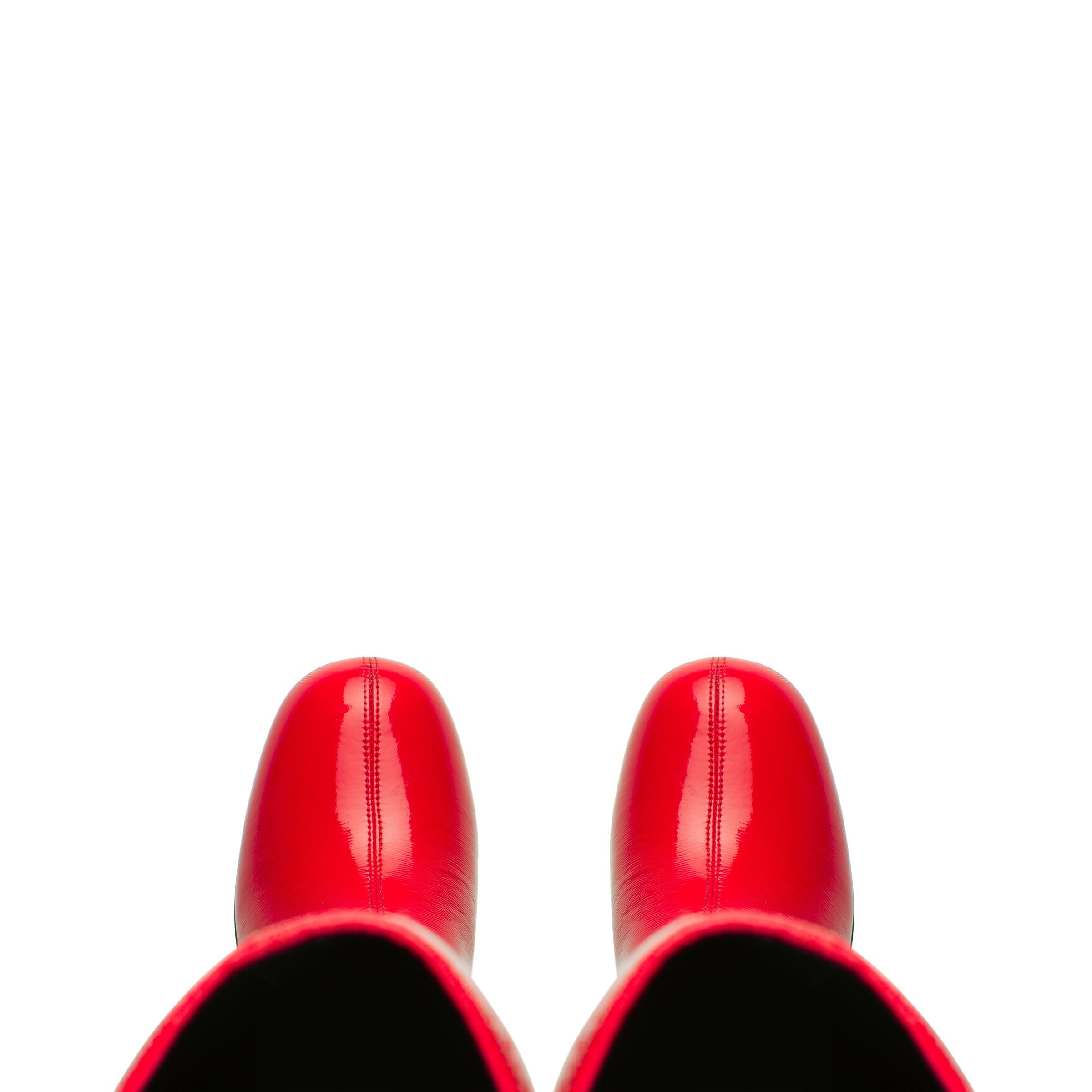 Technical Patent Leather Boots Women Red 1