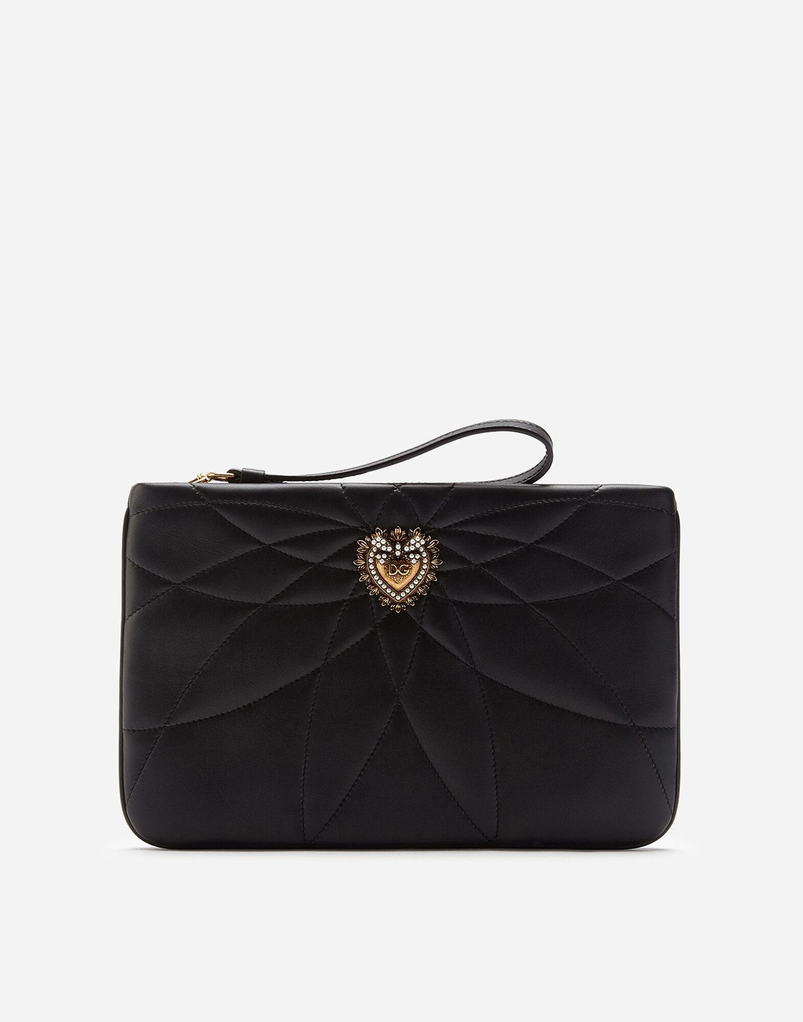 Quilted nappa leather Devotion clutch
