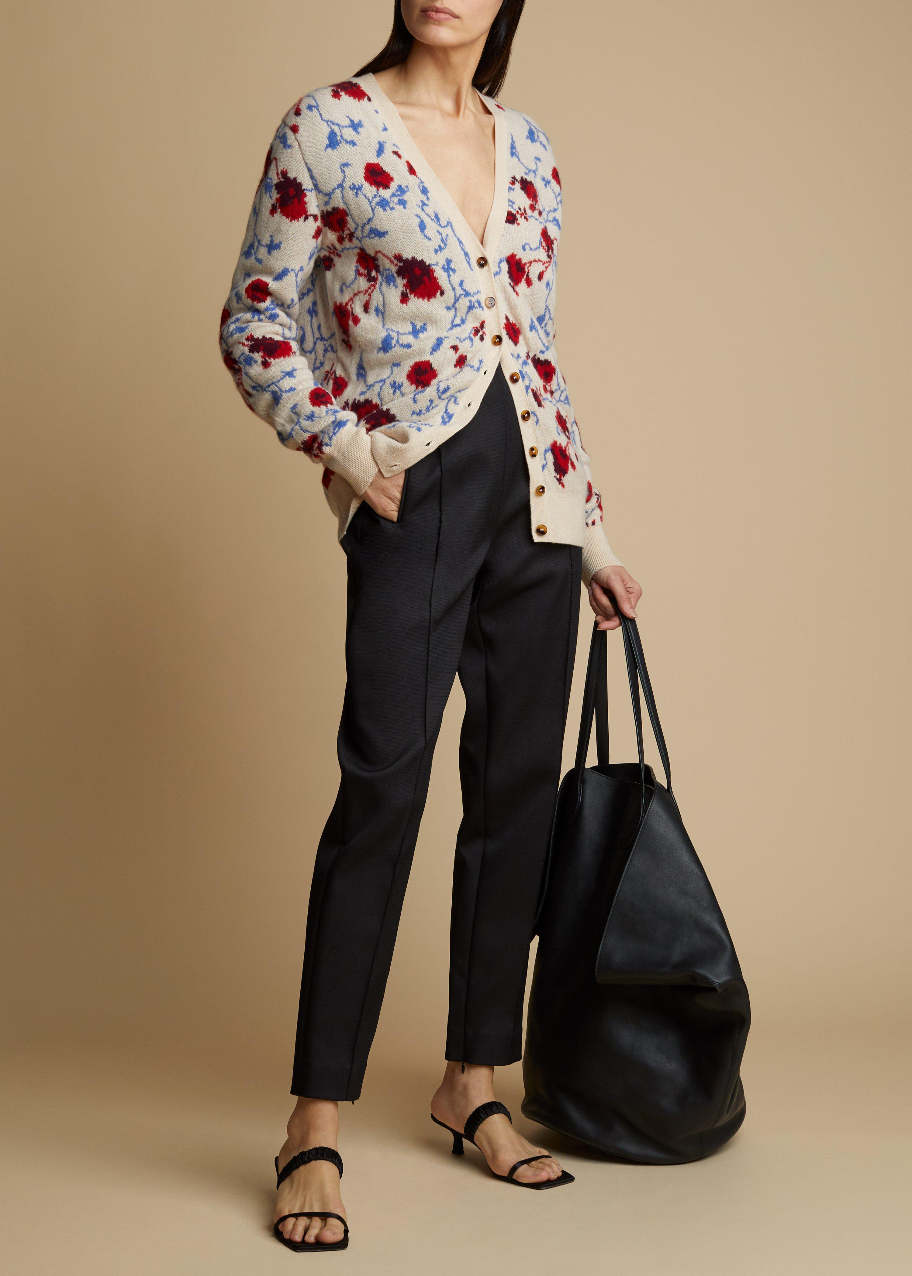 The Amelia Cardigan in Floral Jacquard 1