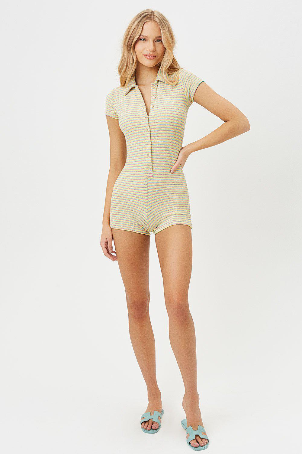 Rose Terry Romper - Lovers Stripe Terry