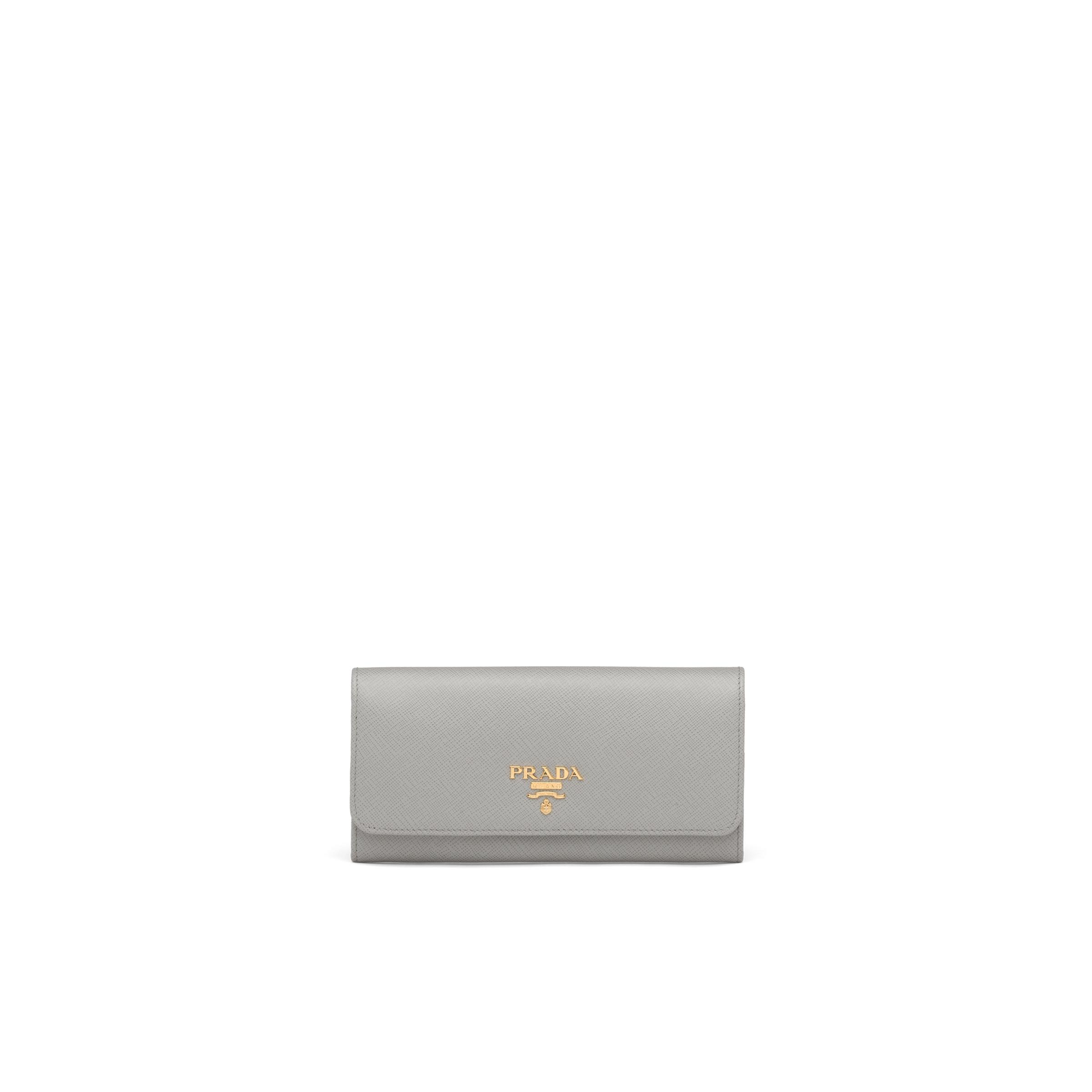 Large Saffiano Leather Wallet Women Cloudy Gray/marble Gray 0