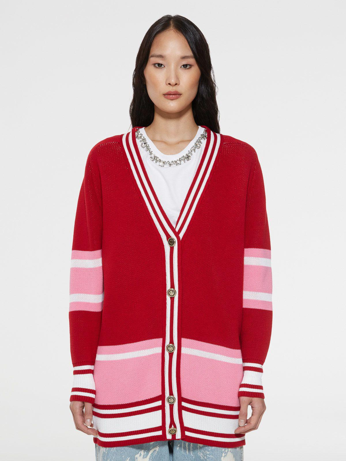 Dixie college cardigan with lettering on the back