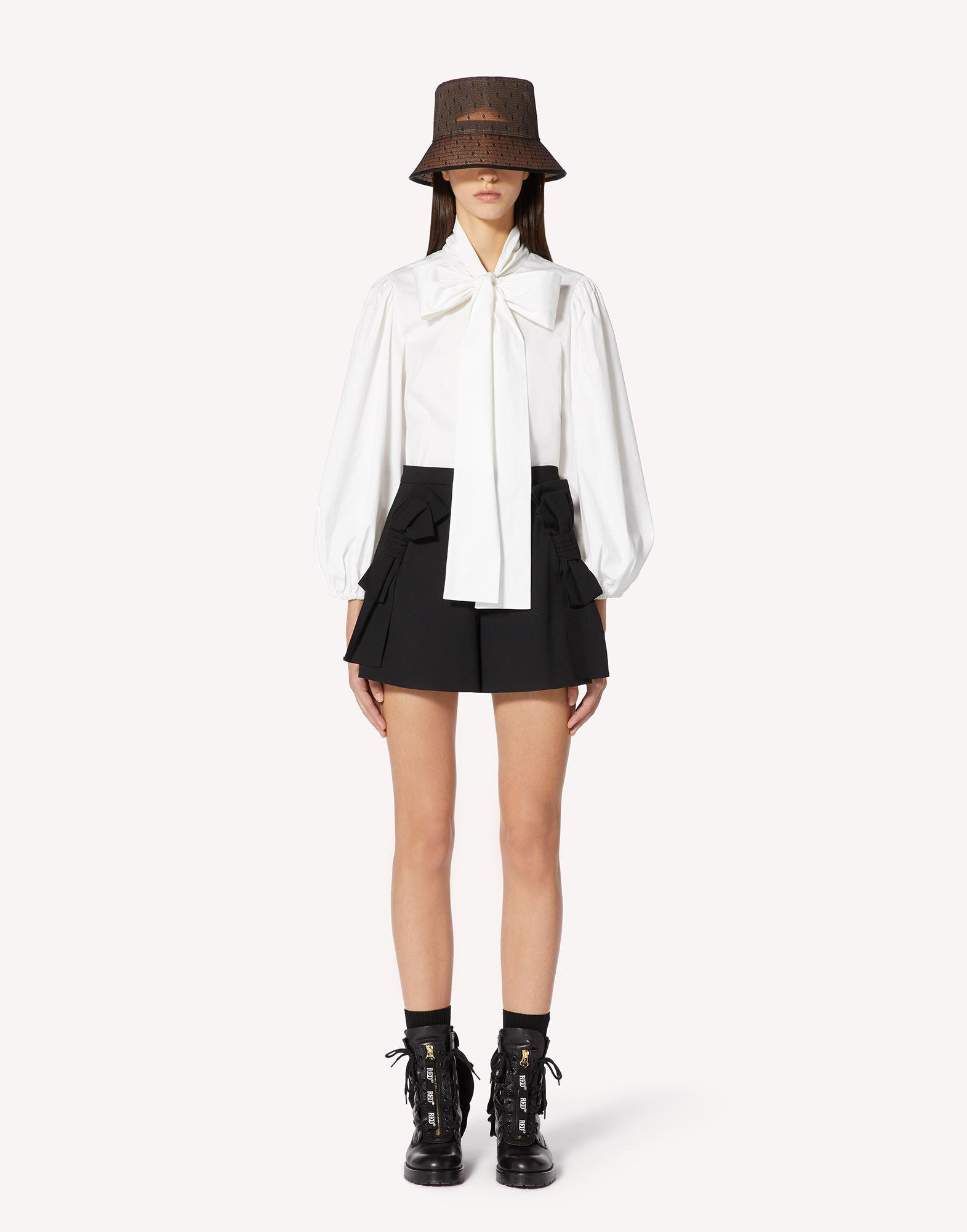 COTTON POPLIN SHIRT WITH BOW DETAIL