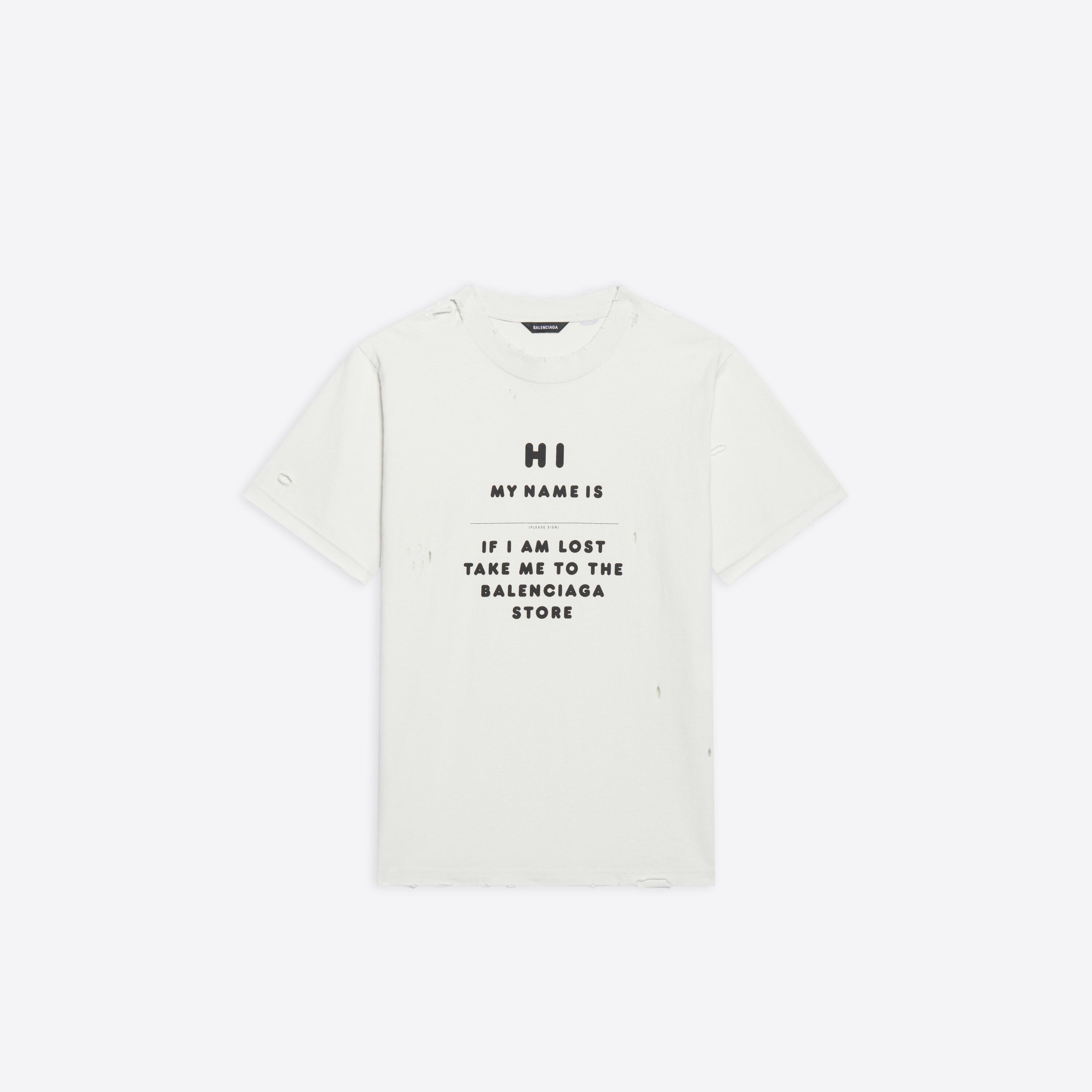Hi My Name Is Small Fit T-Shirt