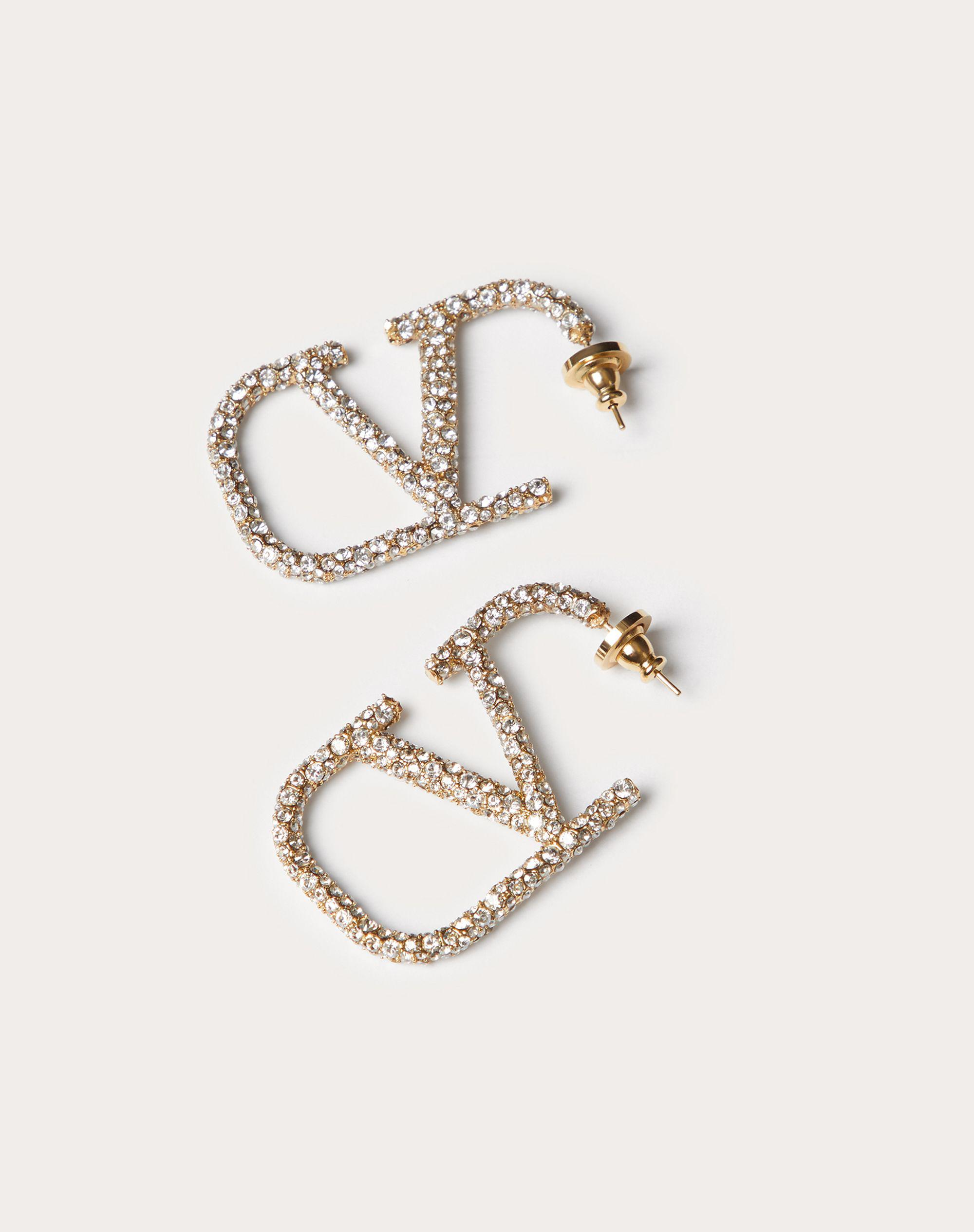 VLogo Signature earrings in metal and Swarovski® crystals.