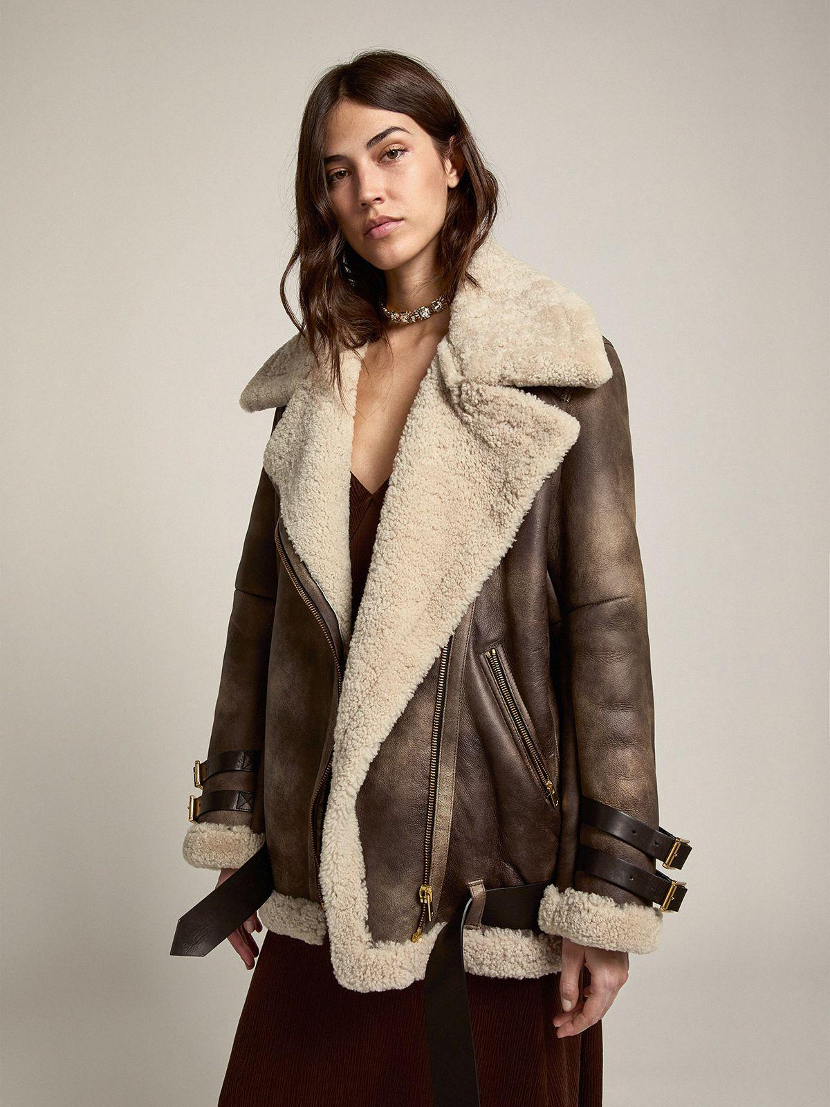 Journey Collection Chelsey shearling jacket