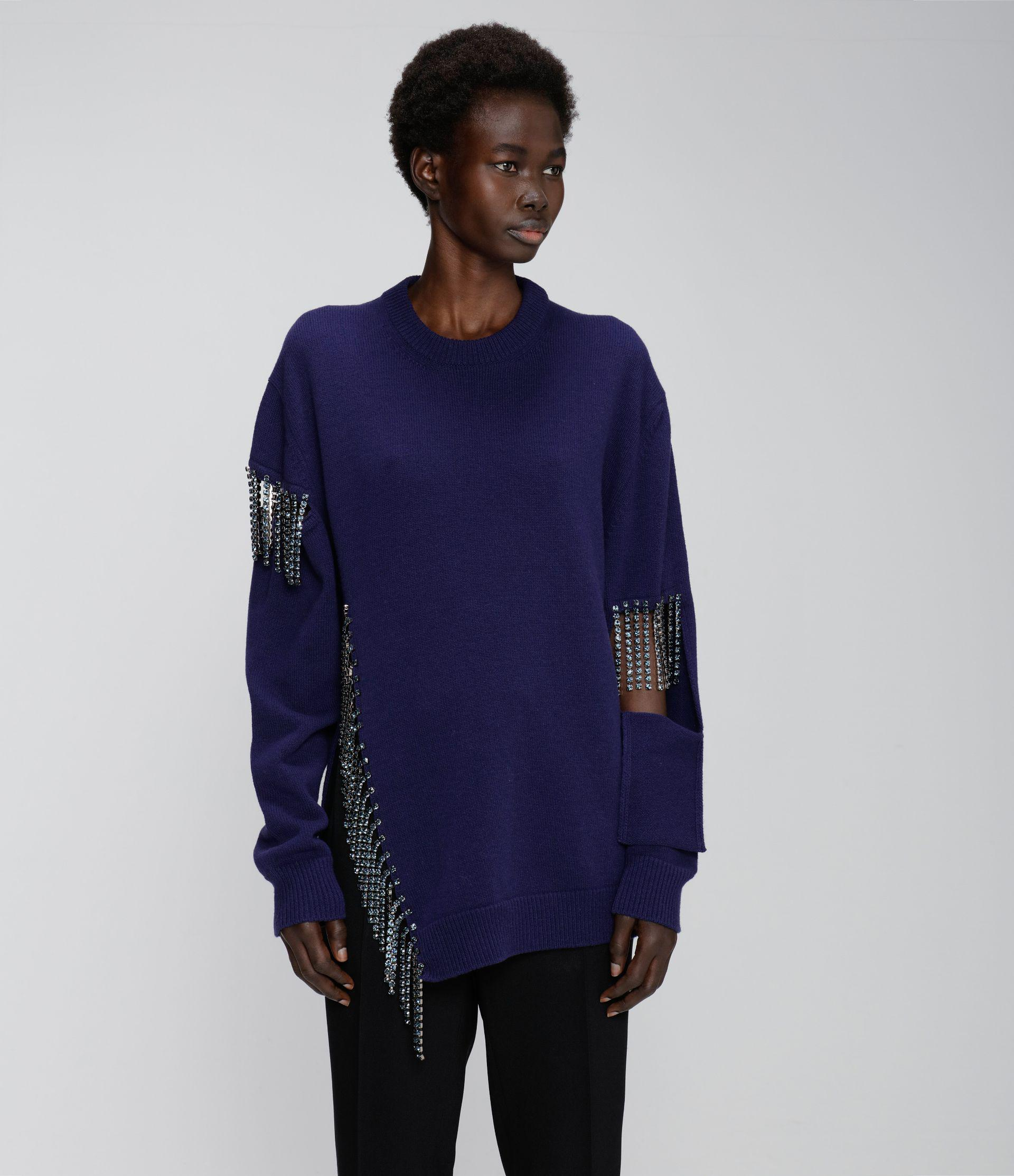 cut-out cupchain knitted sweater 1