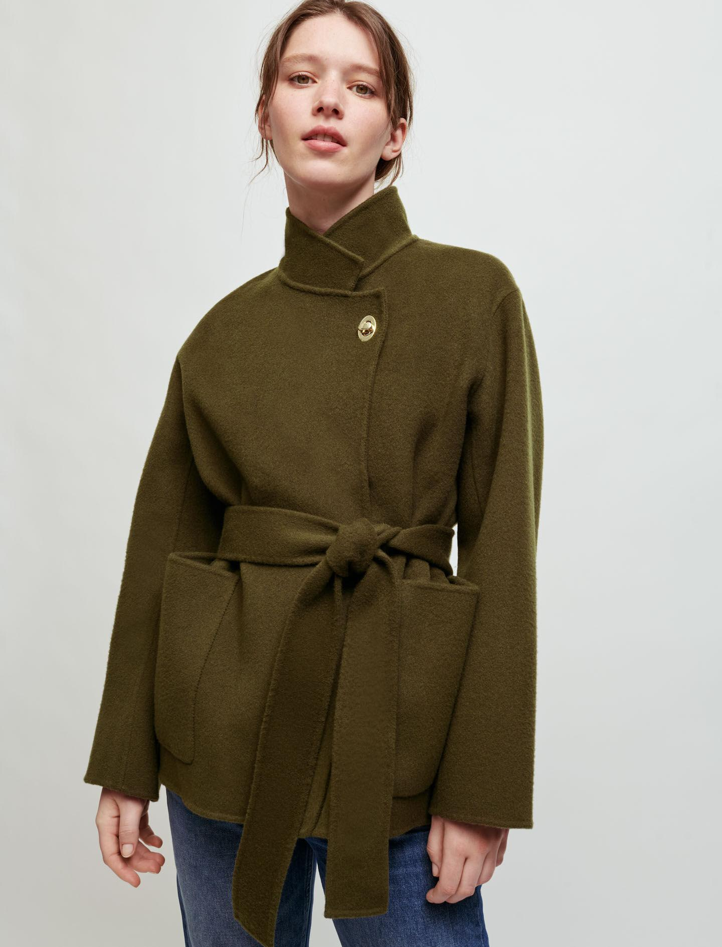 DOUBLE-SIDED BELTED JACKET