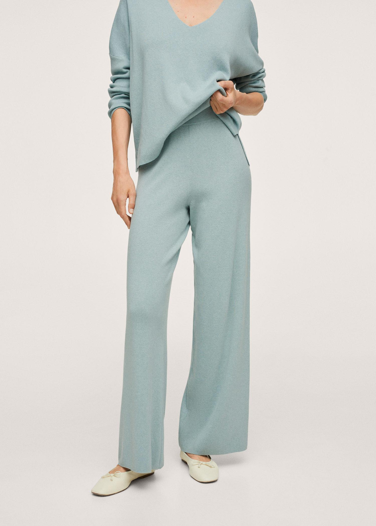 Cotton knitted pants