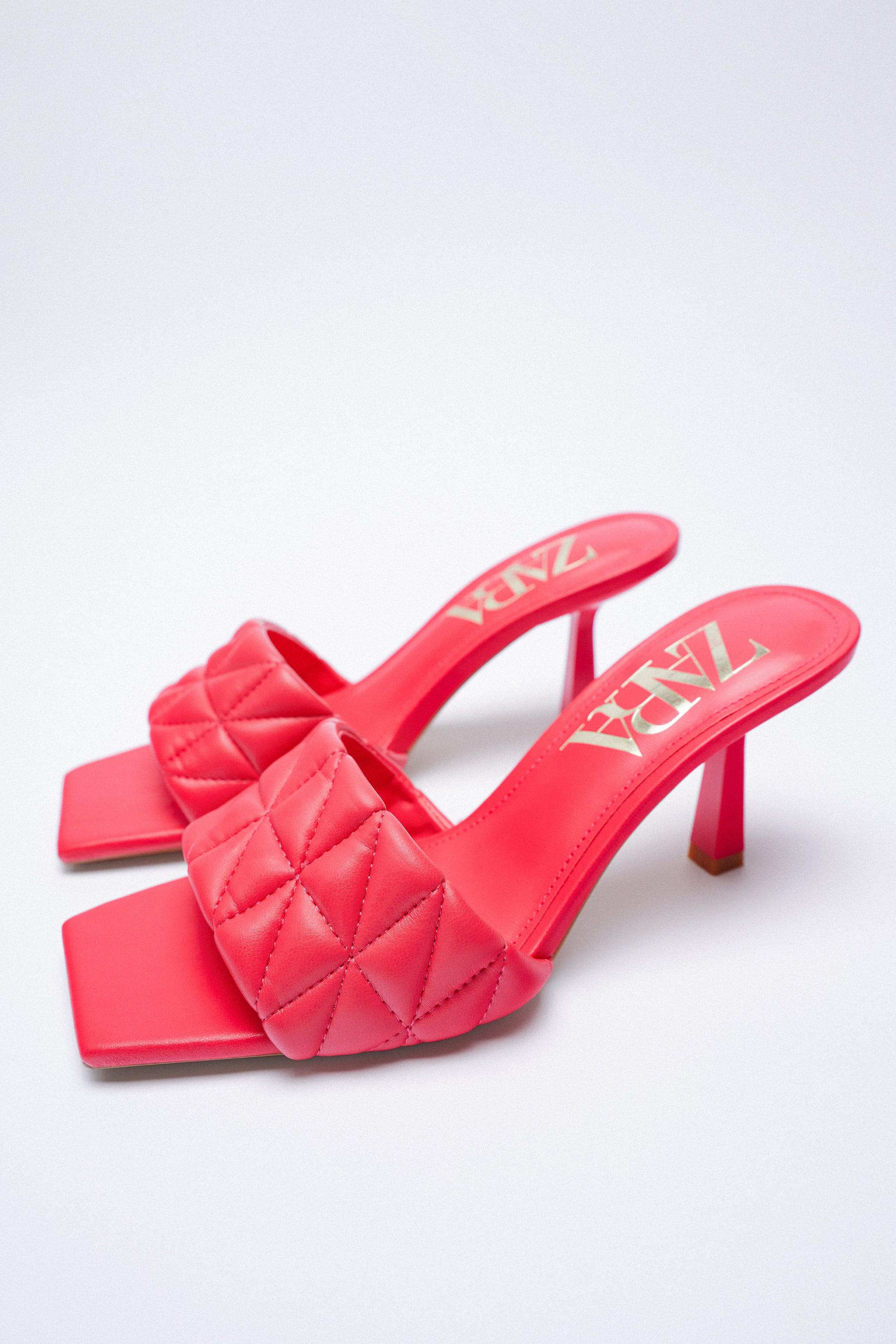 HEELED QUILTED SANDALS 3