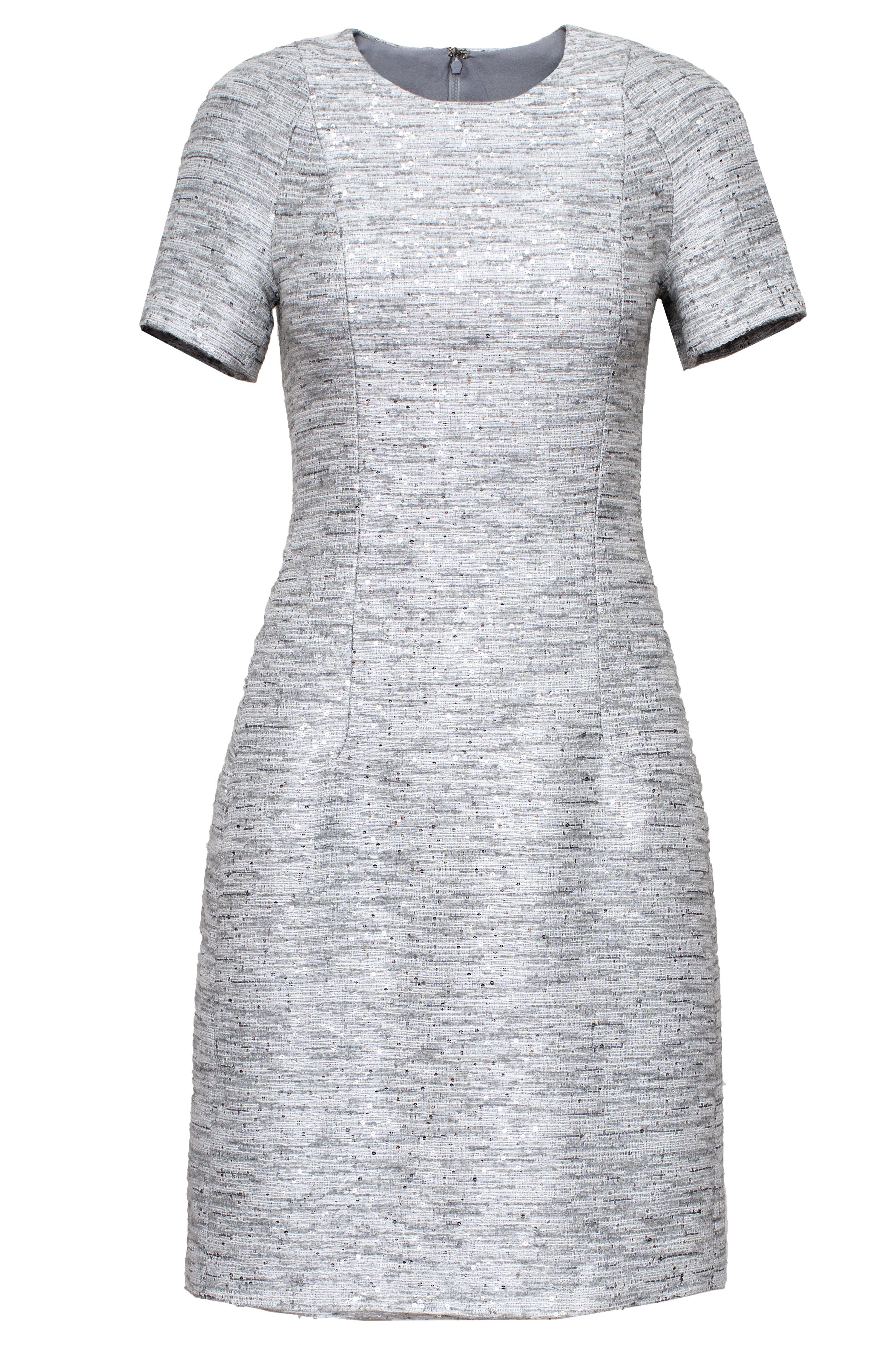 SEQUINED WOOL DRESS 1
