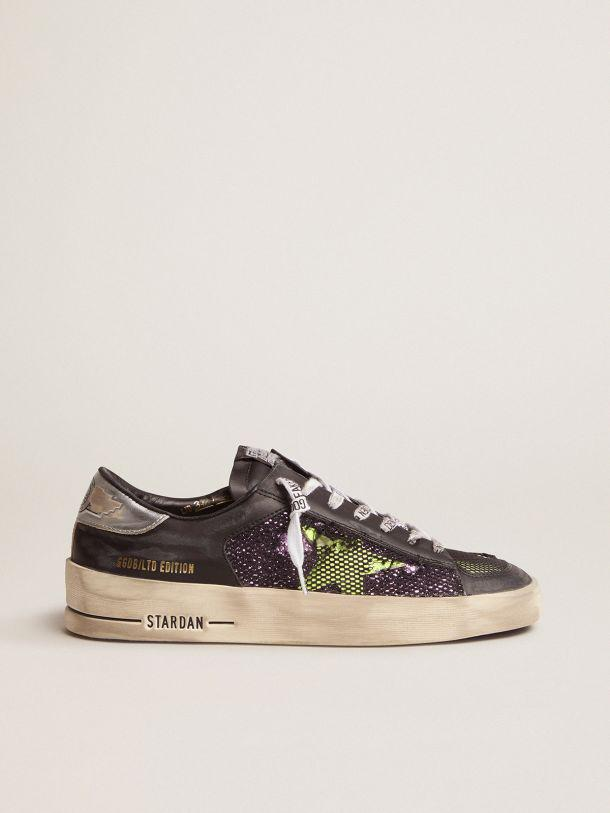 Women's LAB Limited Edition Stardan sneakers with glitter and fluorescent yellow details