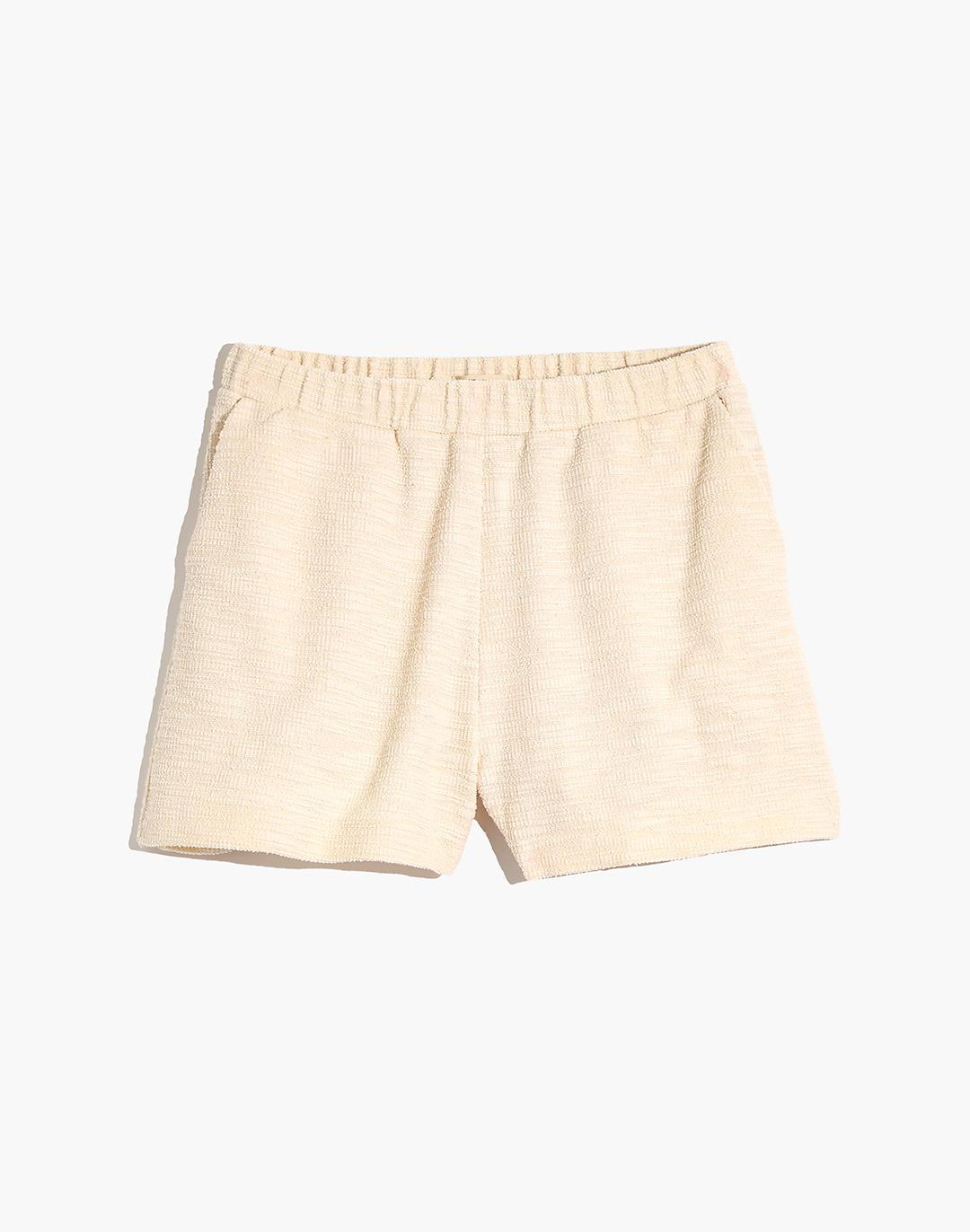 Knit High-Rise Pleated Shorts 3