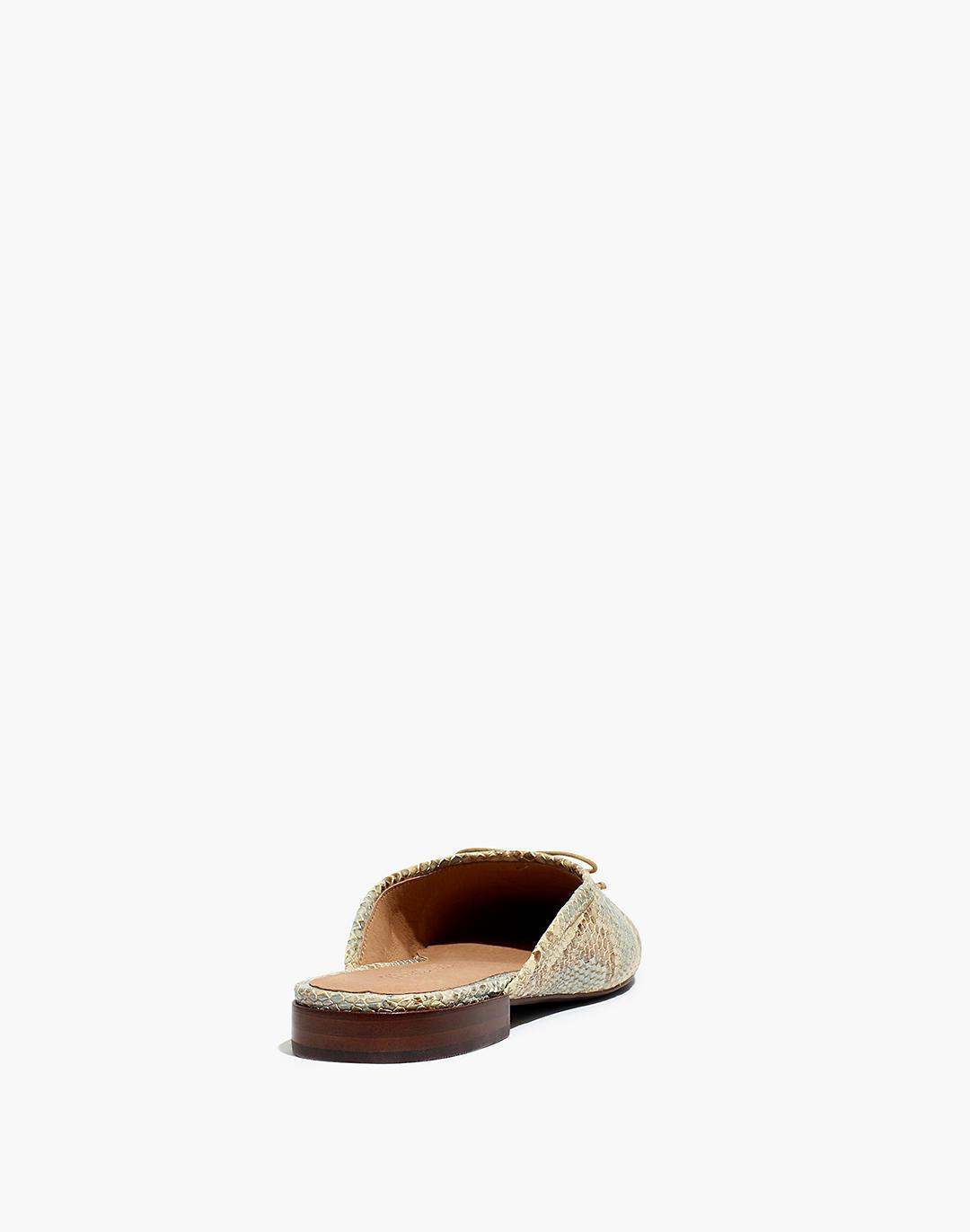The Adelle Ballet Mule in Snake Embossed Leather 2
