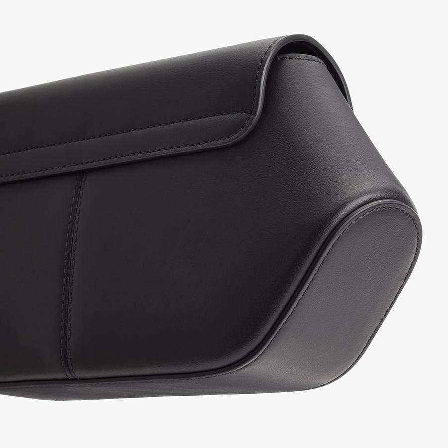 Women's Hexagon Clutch Bag in Black   Smooth Leather by Cuyana 2
