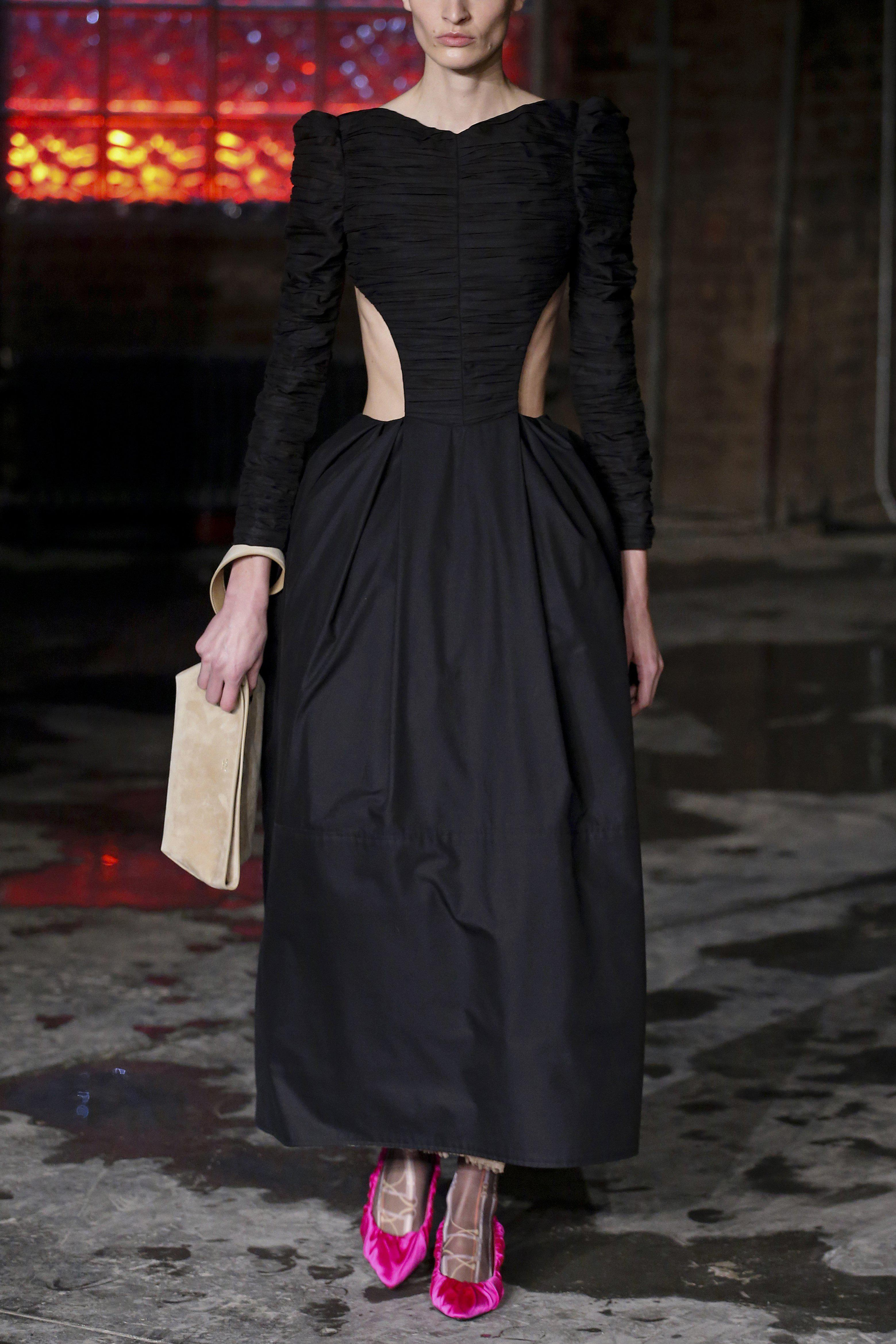 The Rosaline Dress with Petticoat in Black 5
