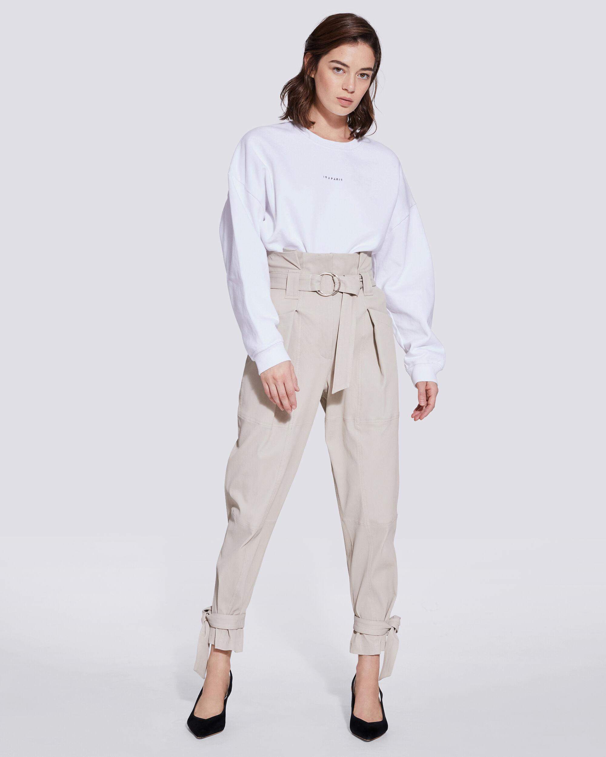 LIMEST PAPERBAG LEATHER TROUSERS