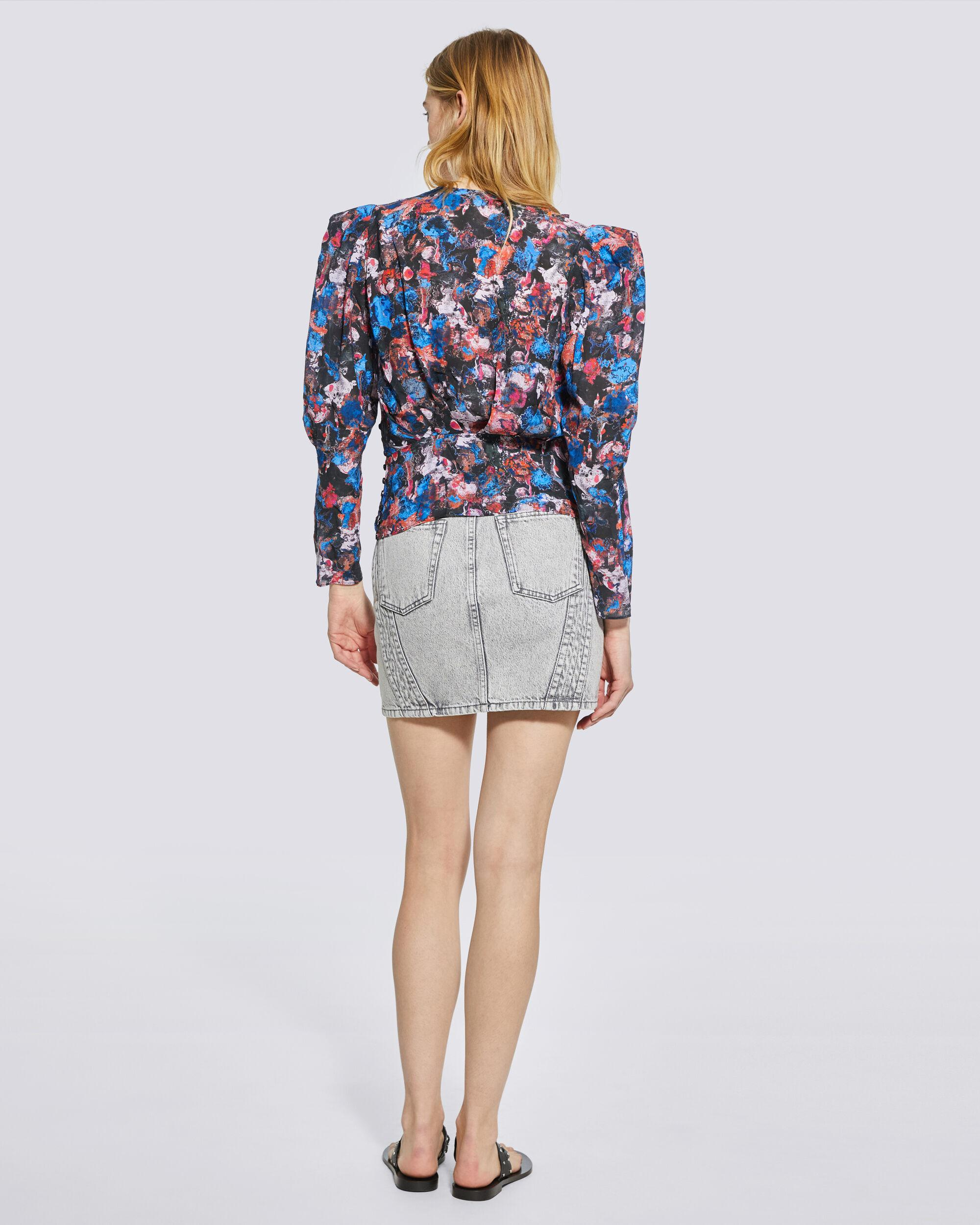 FORWIE FLORAL PRINTED DRAPED TOP 3