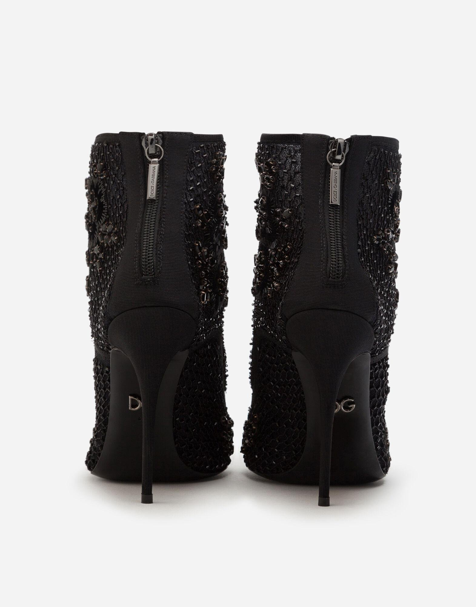 Booties with embroidery, rhinestone and bead embellishment 2