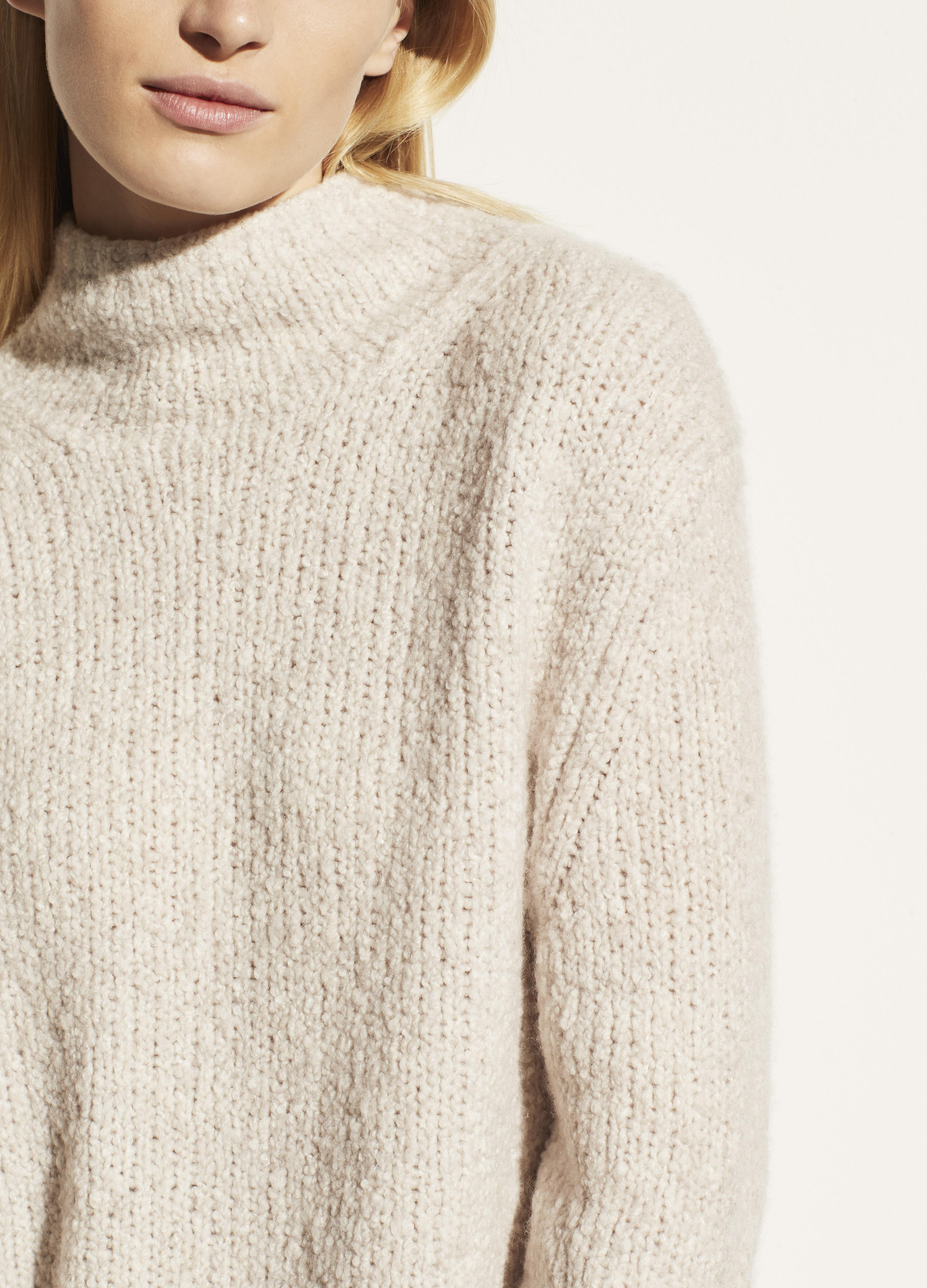 Textured Funnel Neck Pullover 3