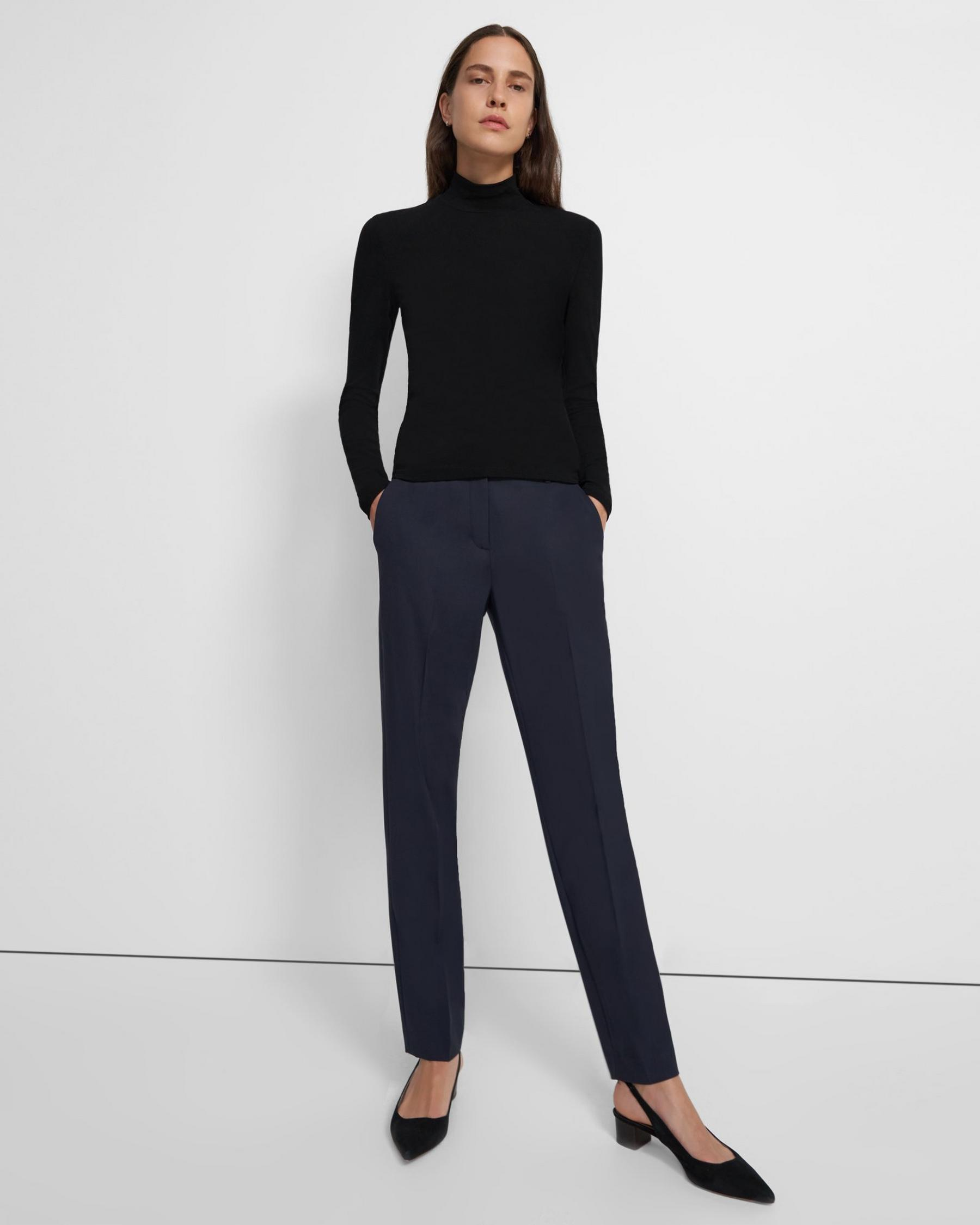 Turtleneck Sweater in Ribbed Viscose 1