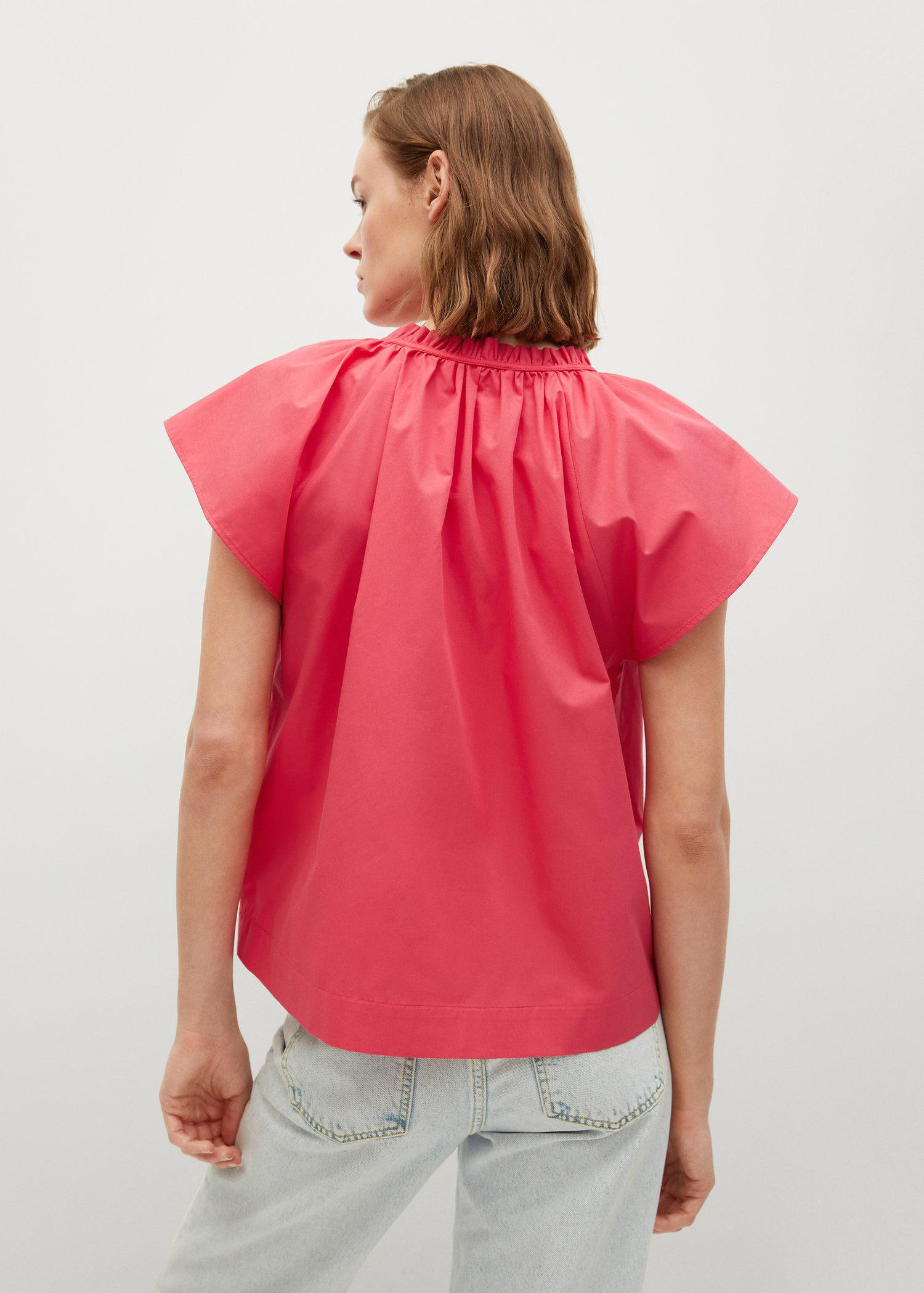 Ruched neck blouse 2