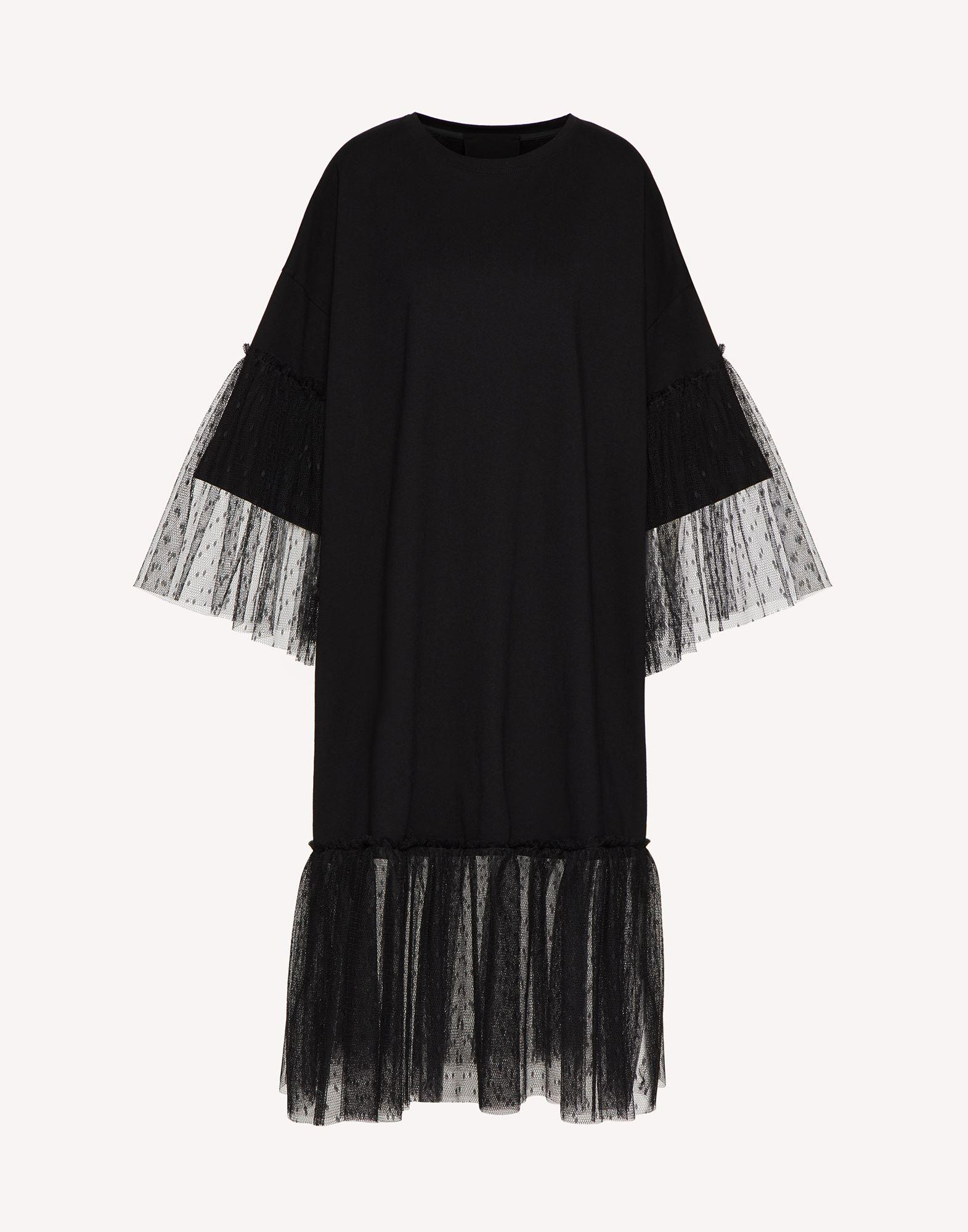 """""""THE BLACK TAG"""" - JERSEY DRESS WITH POINT D'ESPRIT TULLE 4"""