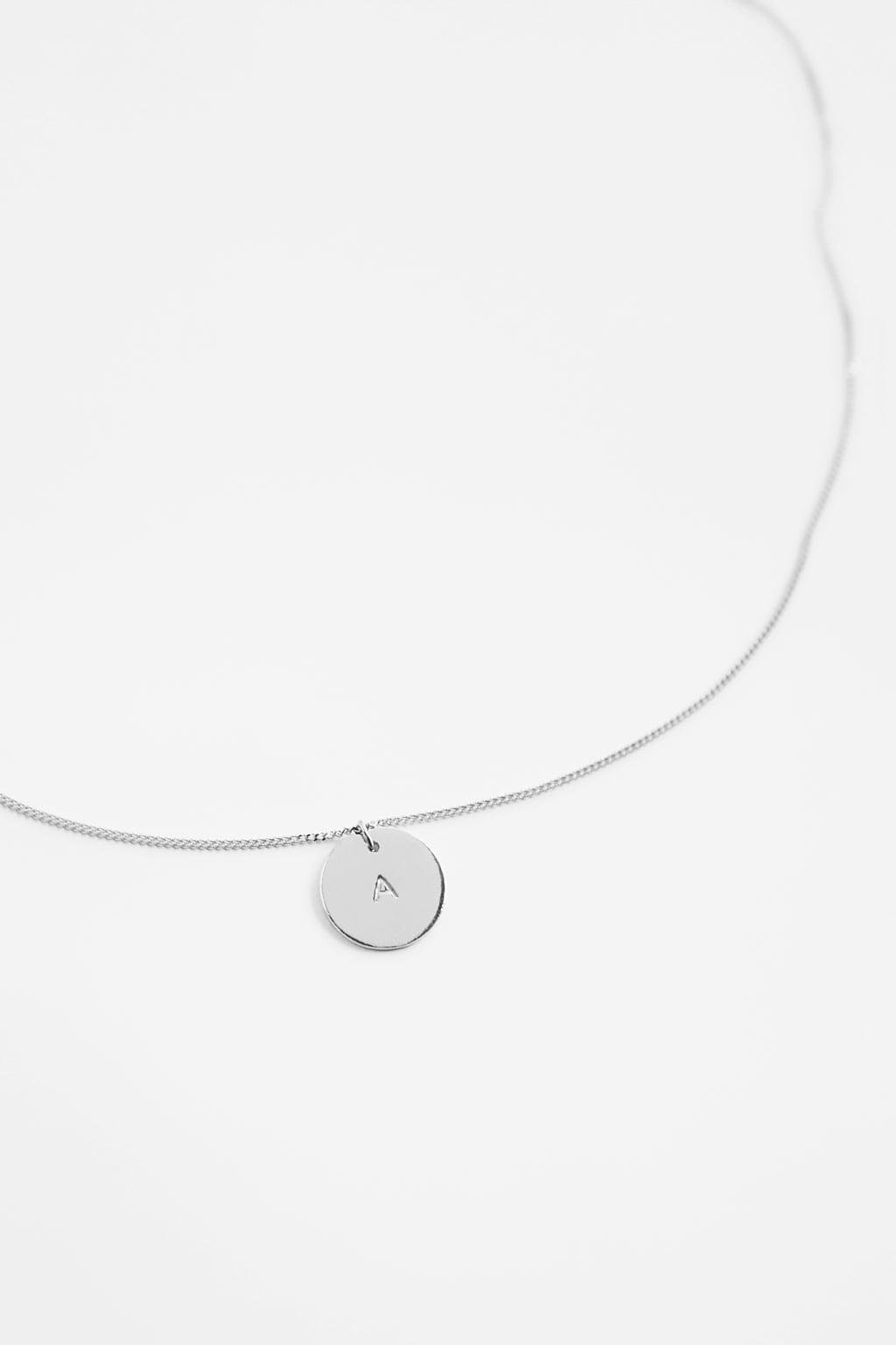 STERLING SILVER NECKLACE WITH MEDALLION