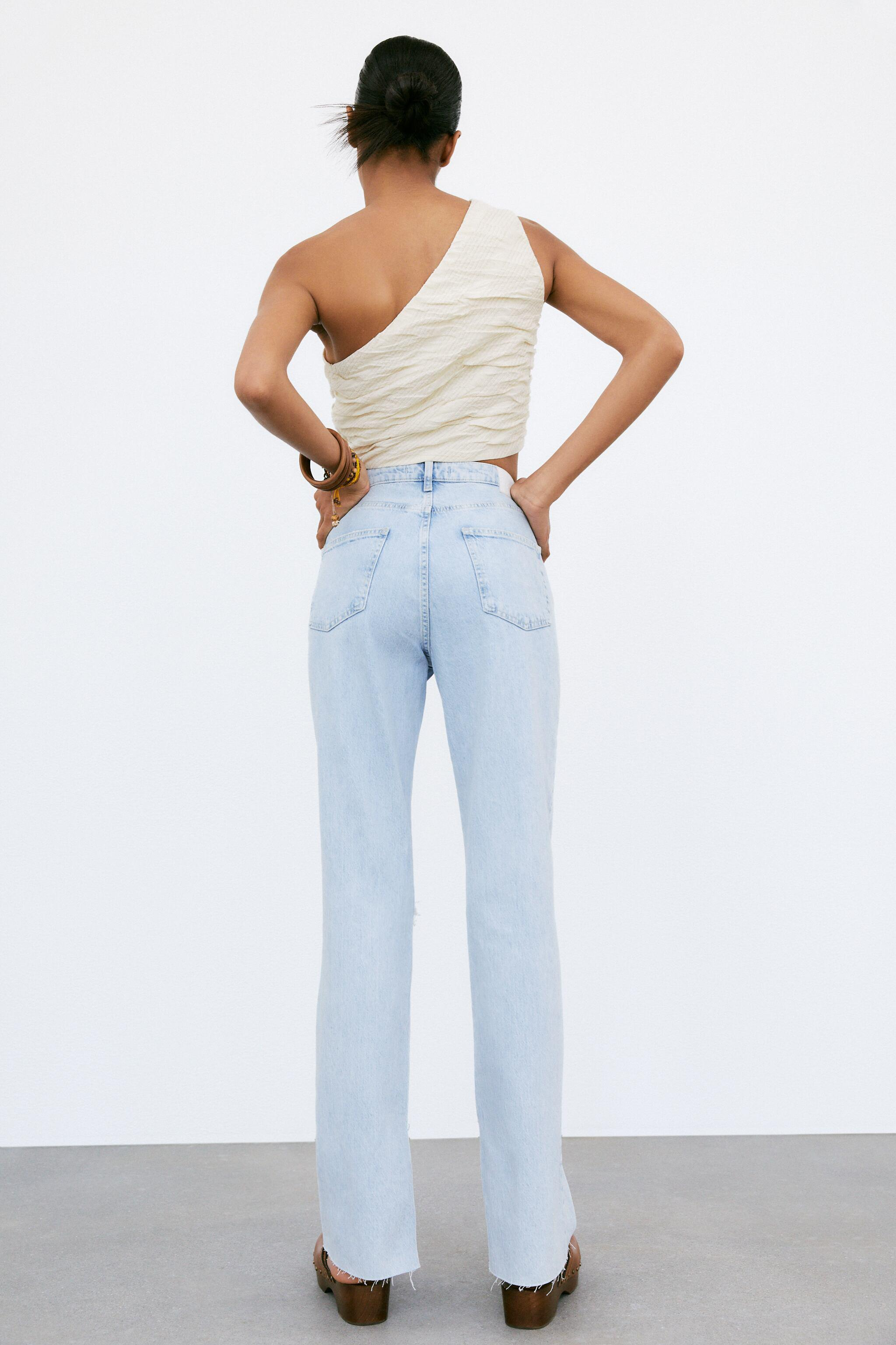 Z1975 FLARED RIPPED SLIM FIT JEANS 4