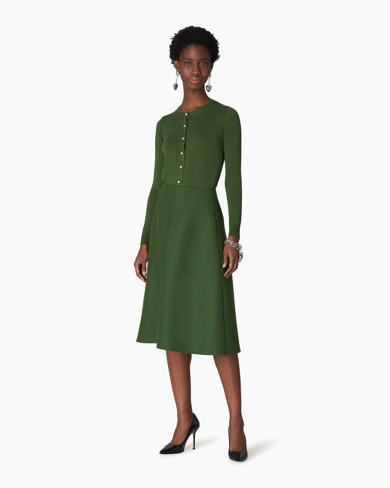 Double-Faced Wool A-Line Skirt