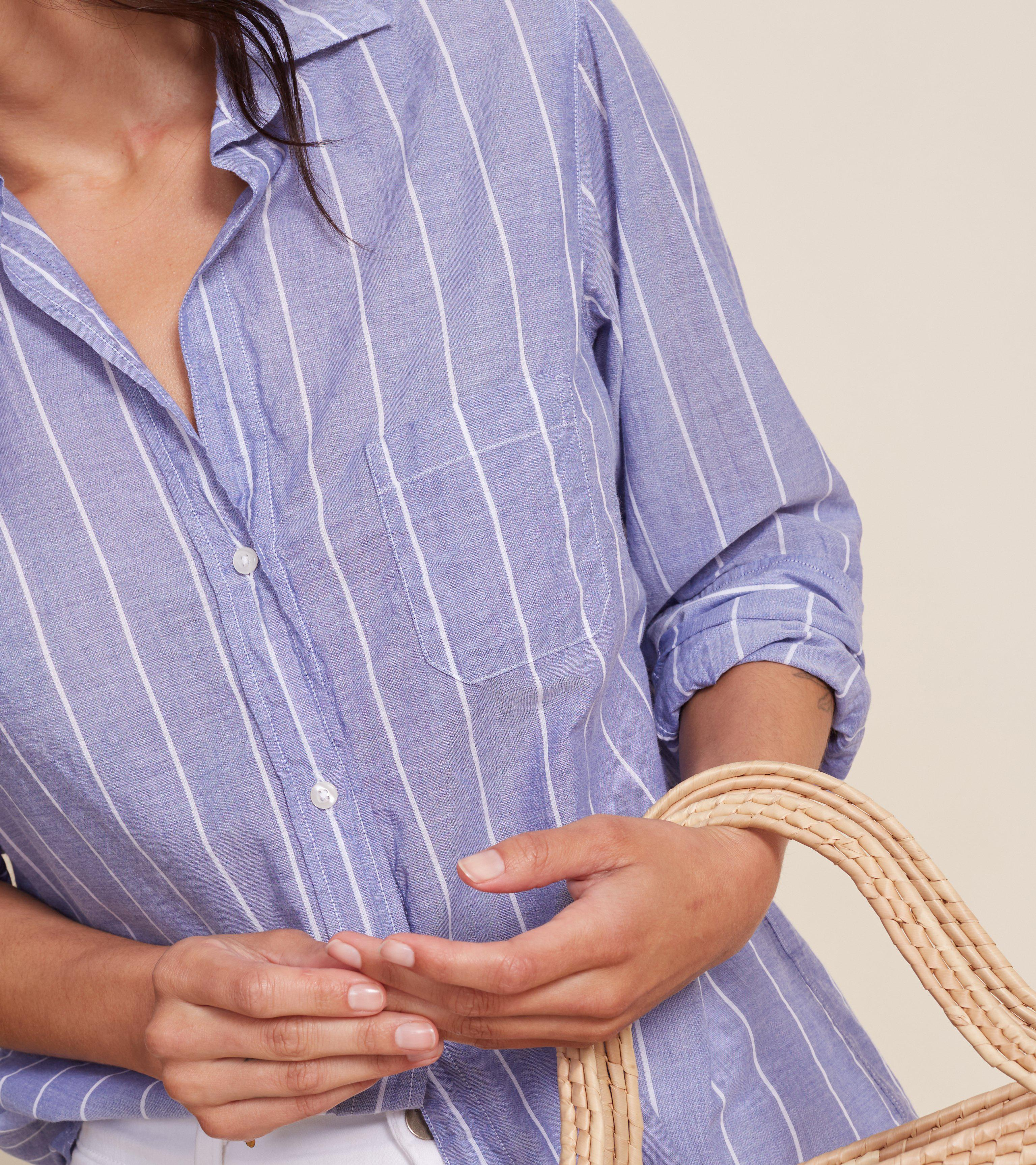 The Hero Blue and White Stripes, Tissue Cotton Final Sale 4