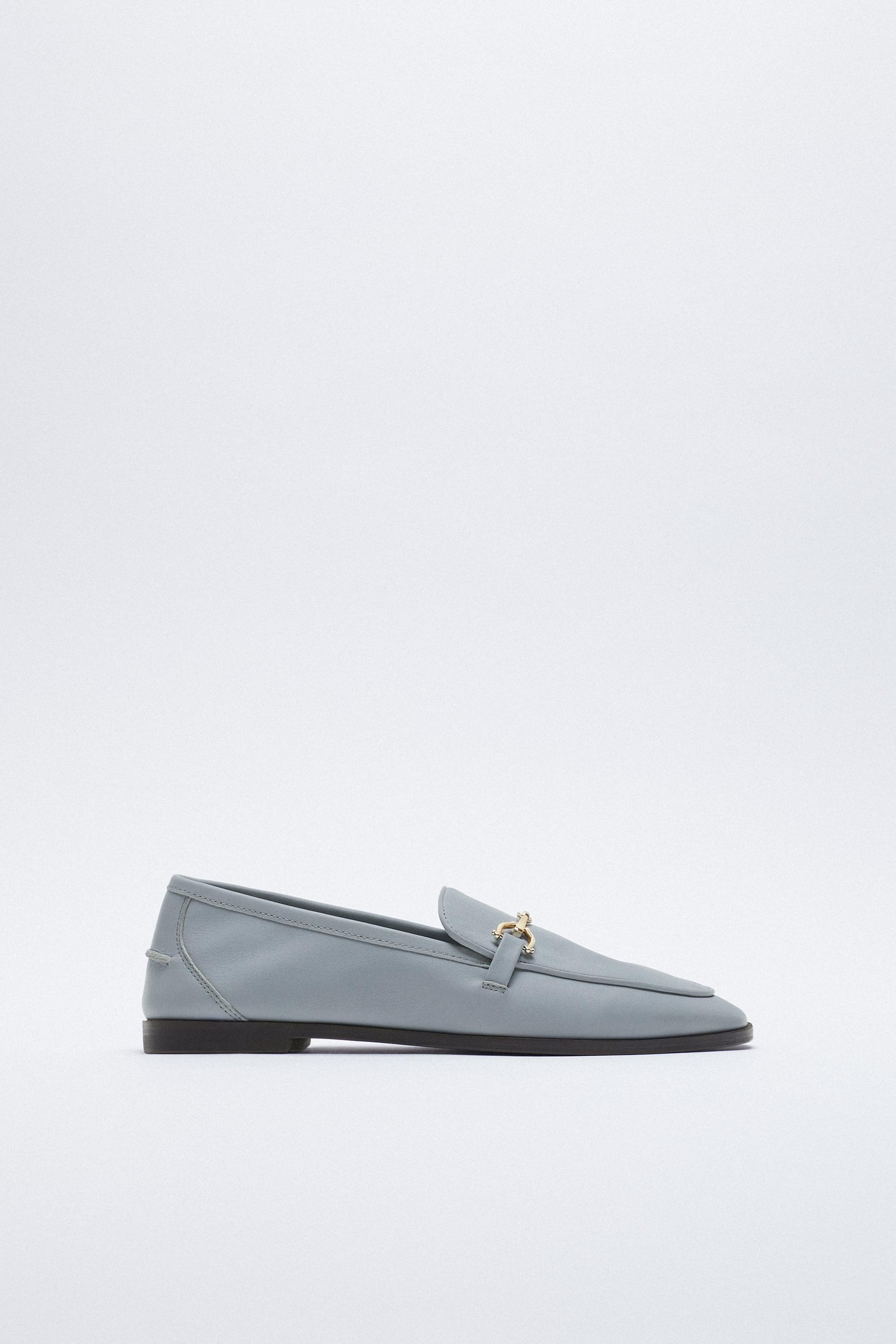 BUCKLED LEATHER LOAFERS