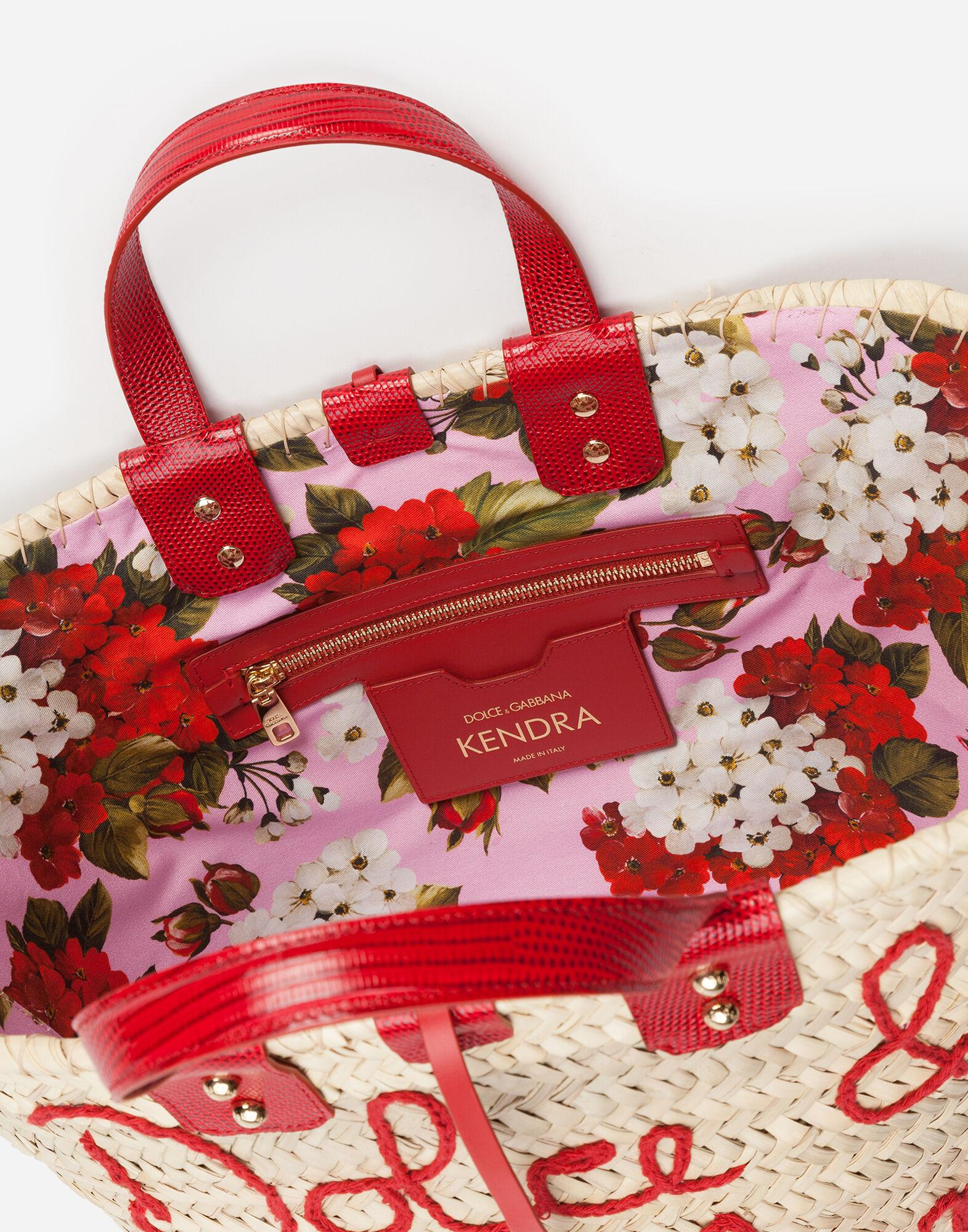 Kendra coffa bag in straw with thread embroidery 3
