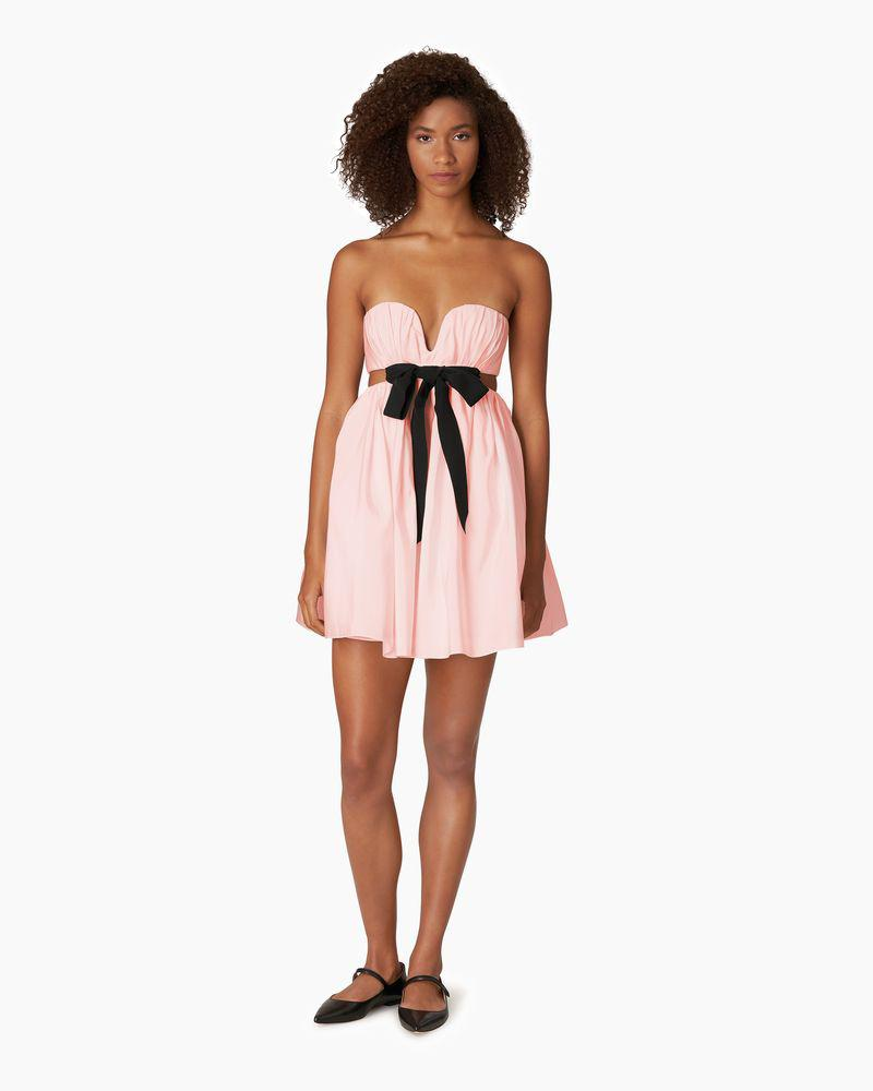 Cut-out Mini Dress with Bow
