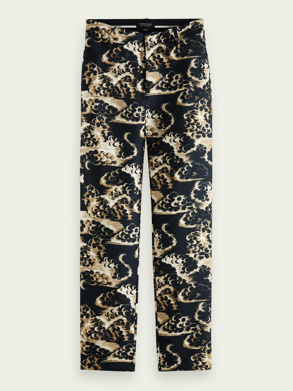 Printed tapered mid-rise trousers 6
