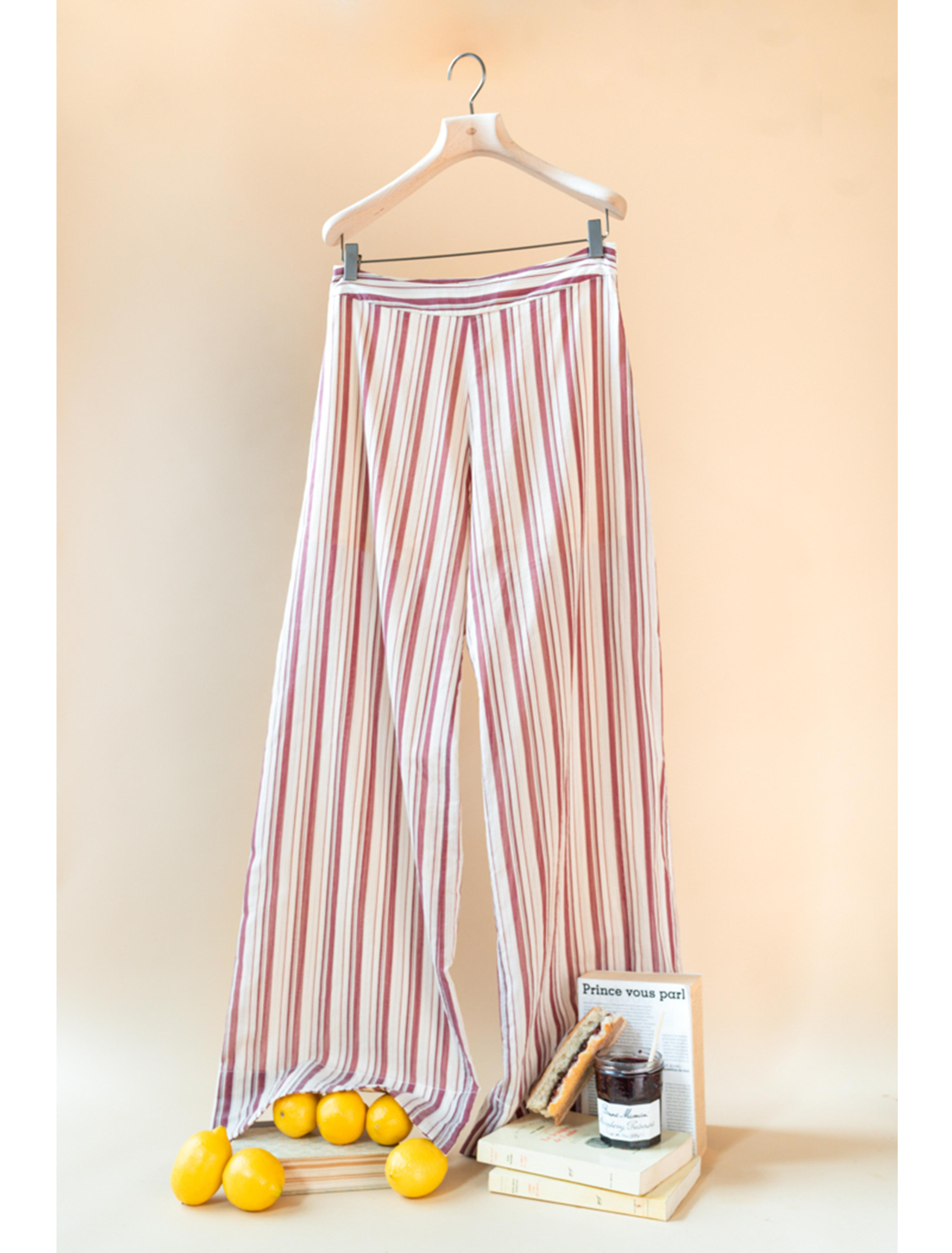 THE ADA TAILORED PANTS COTTON STRIPES