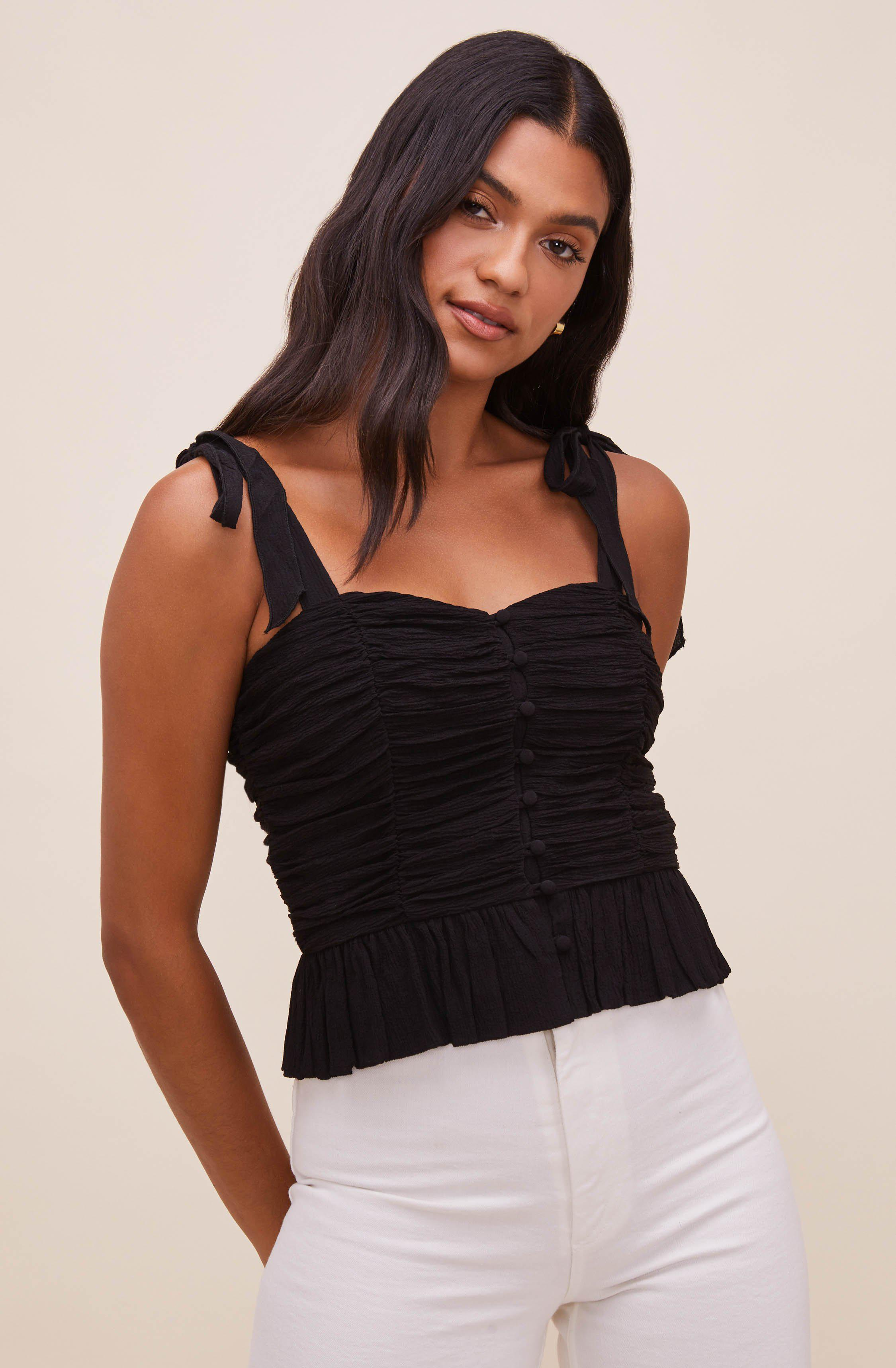 Duffy Sweetheart Neck Top