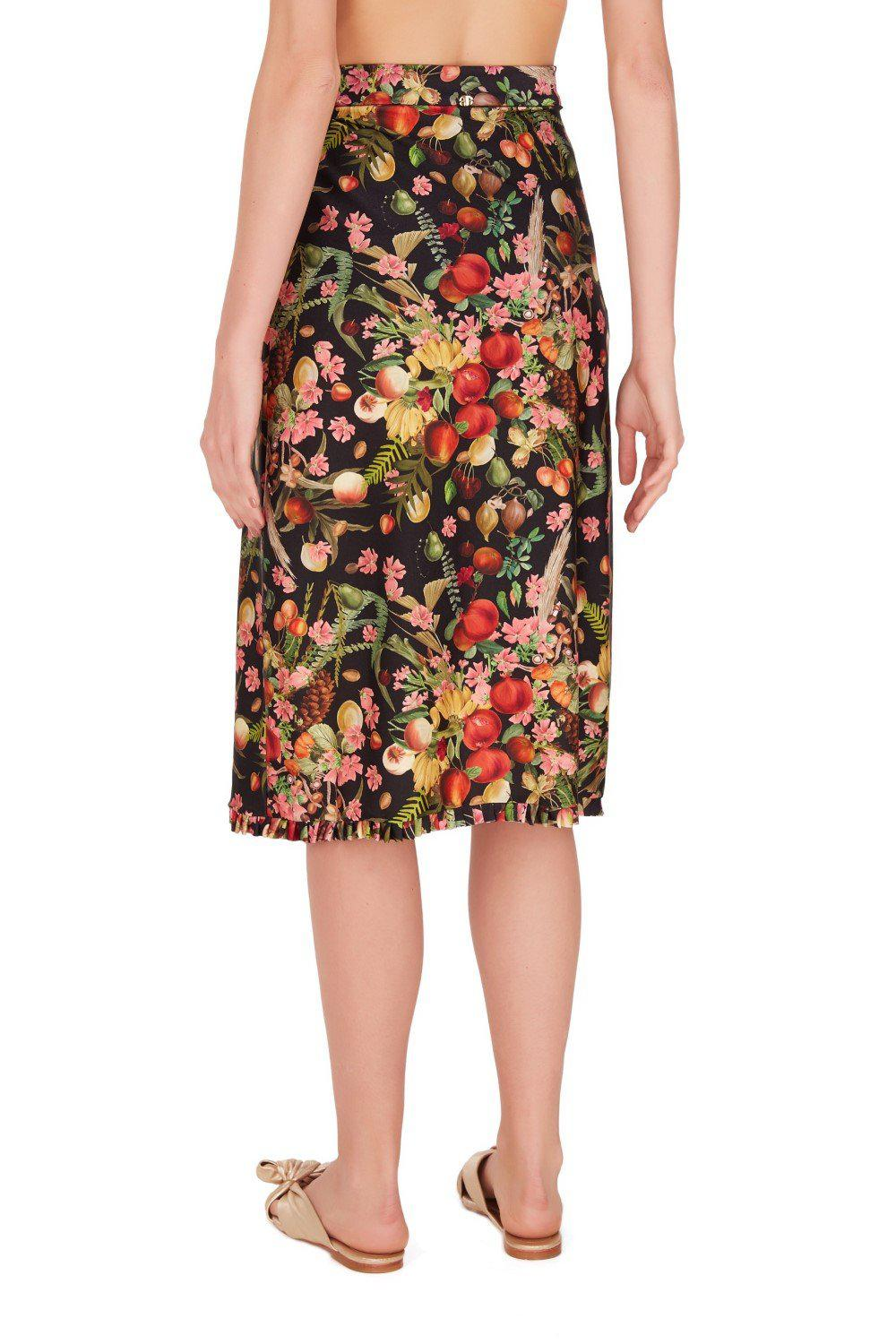 Fruits Exotiques Pareo Skirt with Frills 2