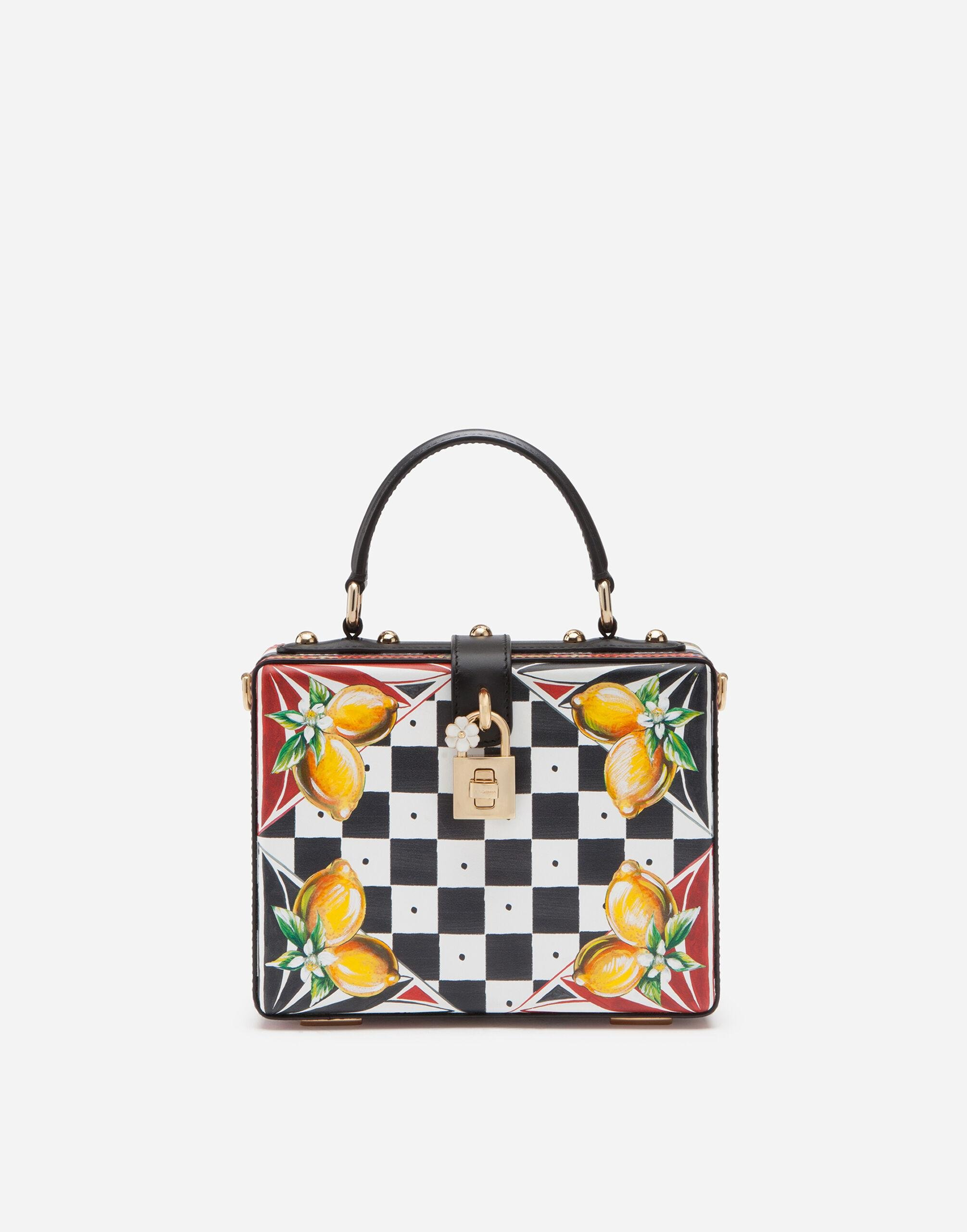 Dauphine calfskin Dolce Box bag with Carretto and lemon print
