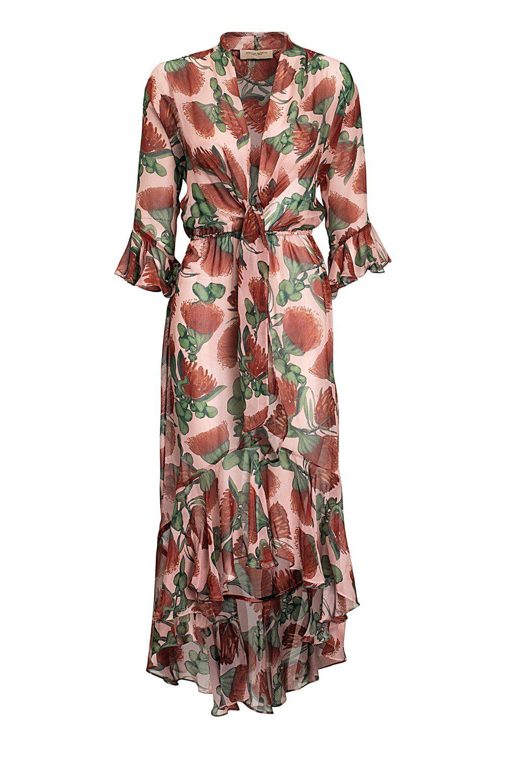 Fiore Long Dress with Knot Detail