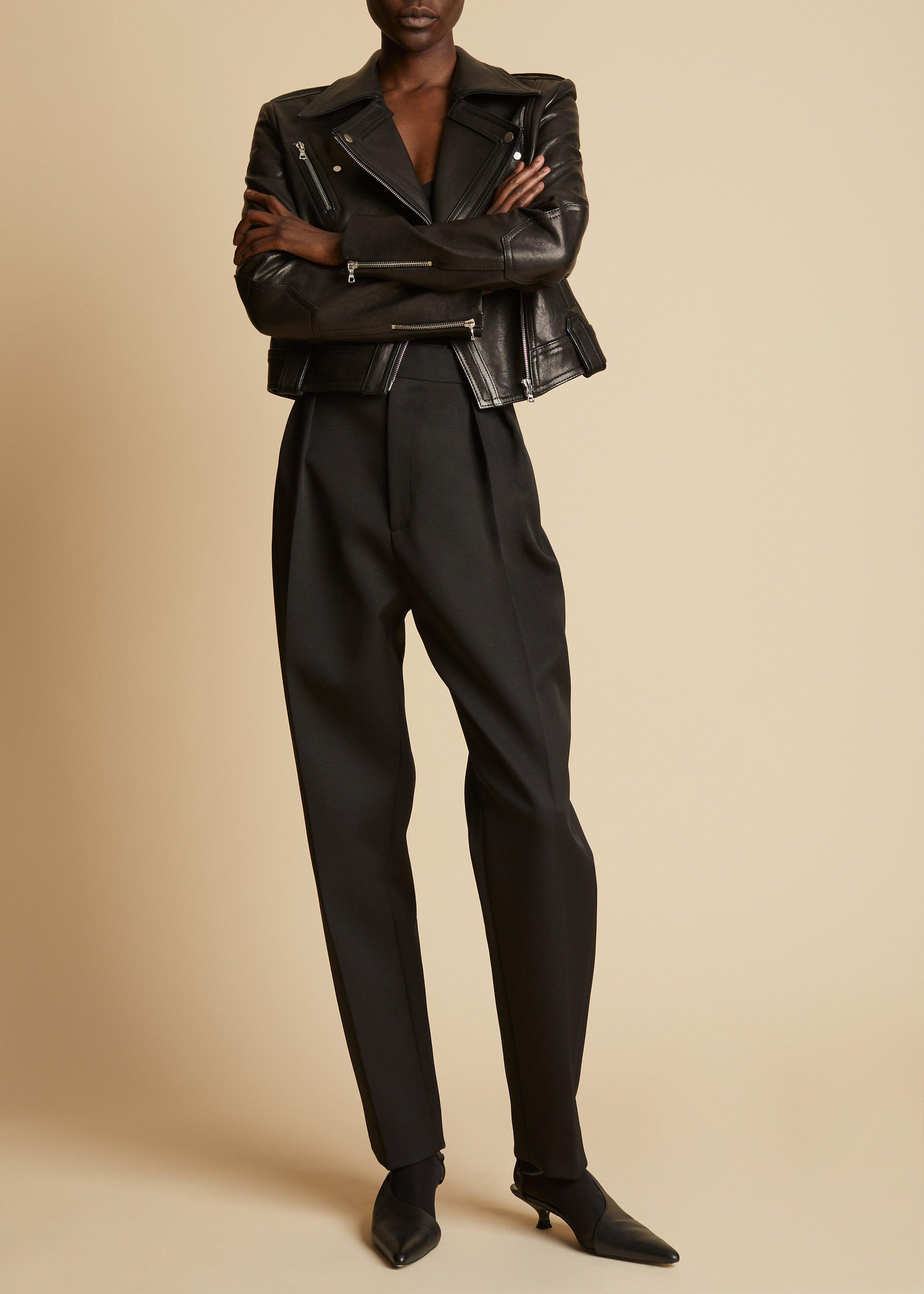 The Antonia Jacket in Black Leather