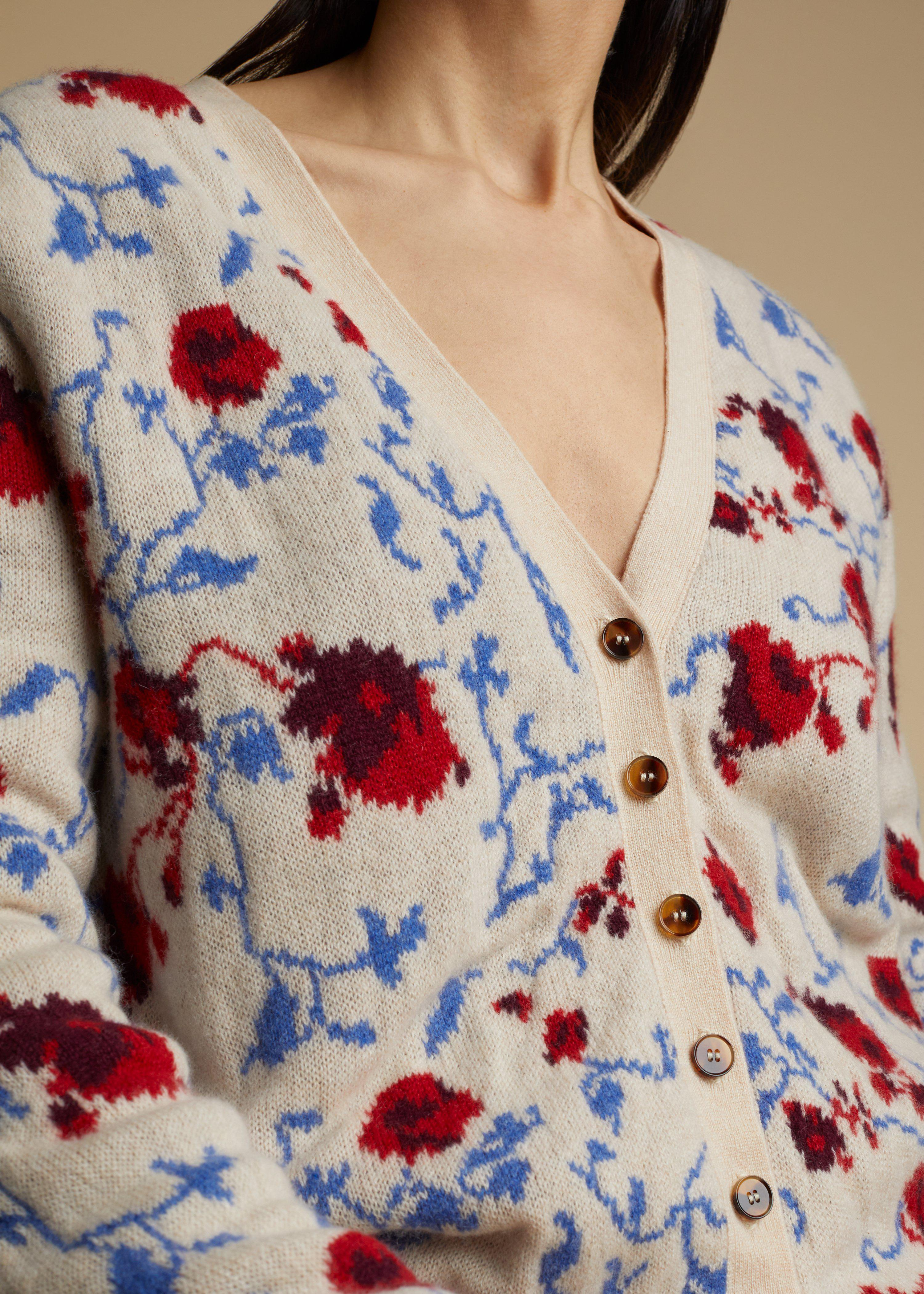 The Amelia Cardigan in Floral Jacquard 4