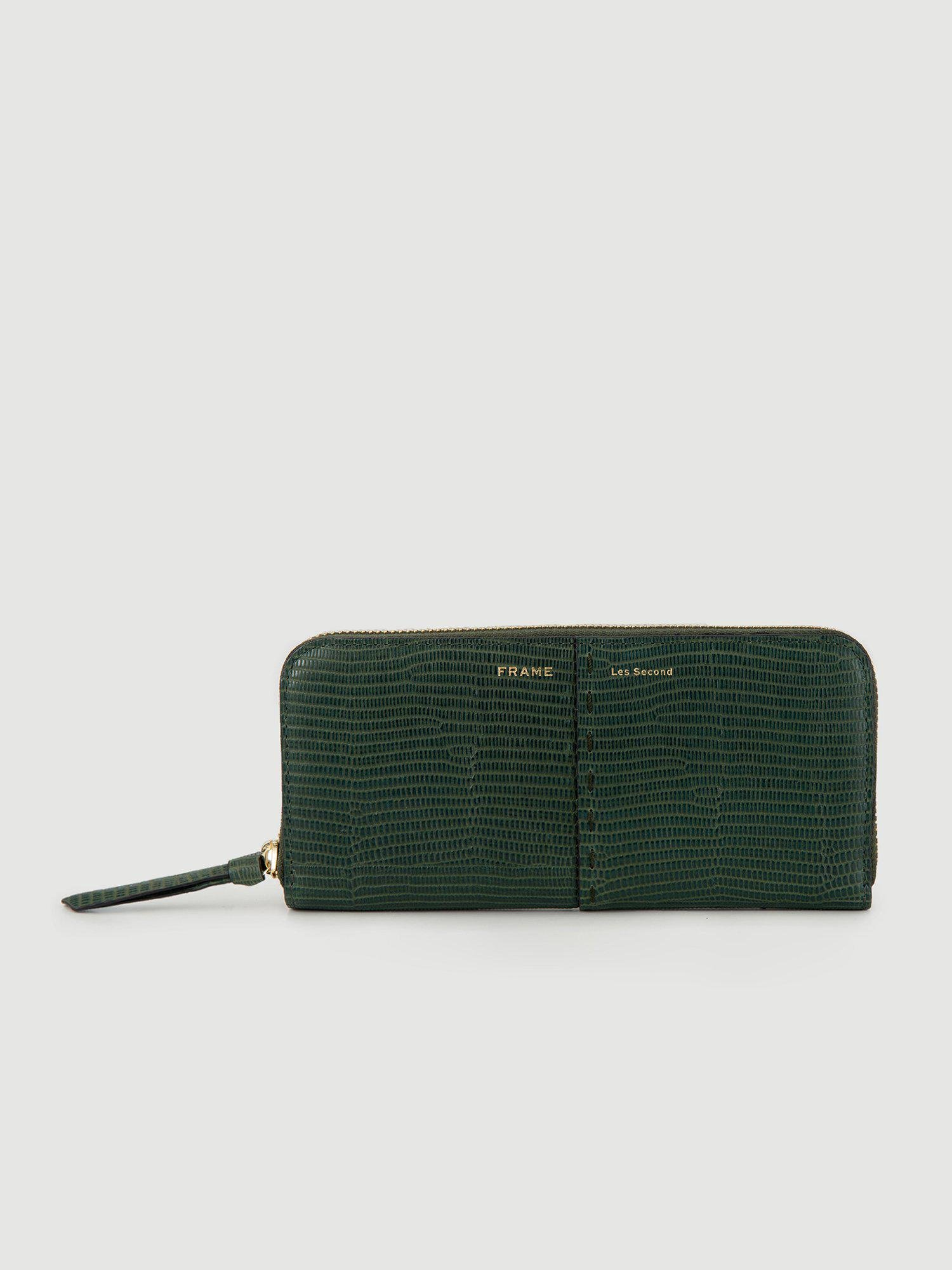 Les Second - Continental Wallet -- Forest Lizard