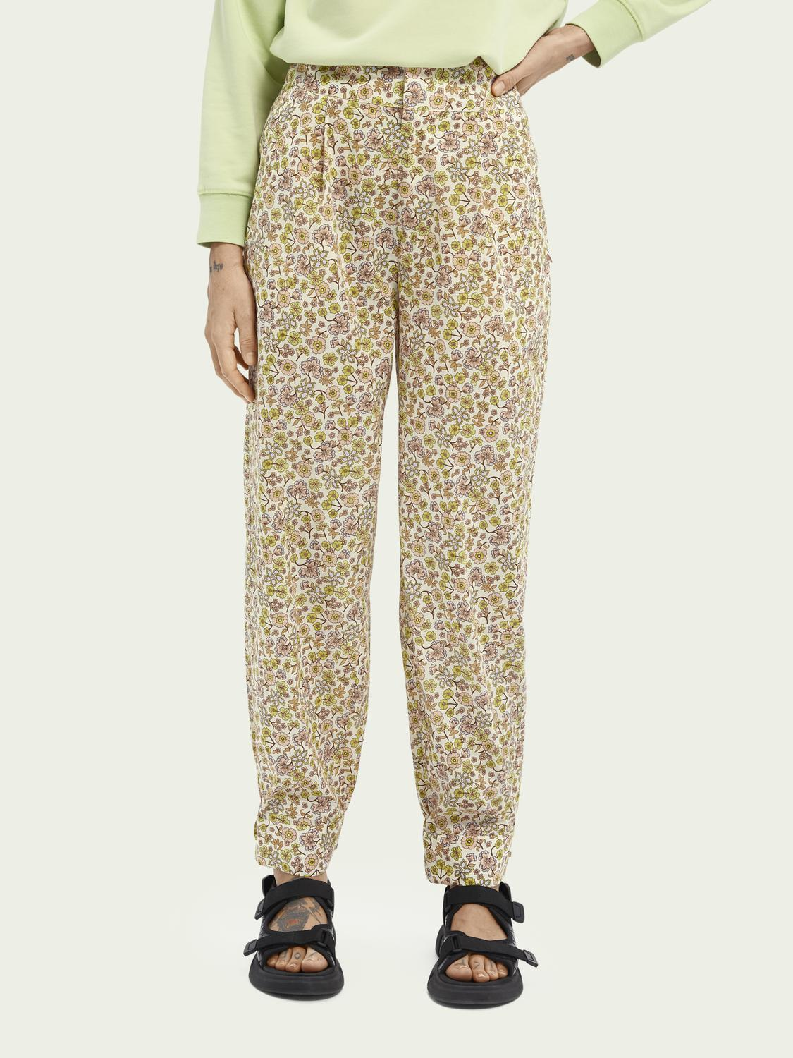 Printed organic cotton trousers