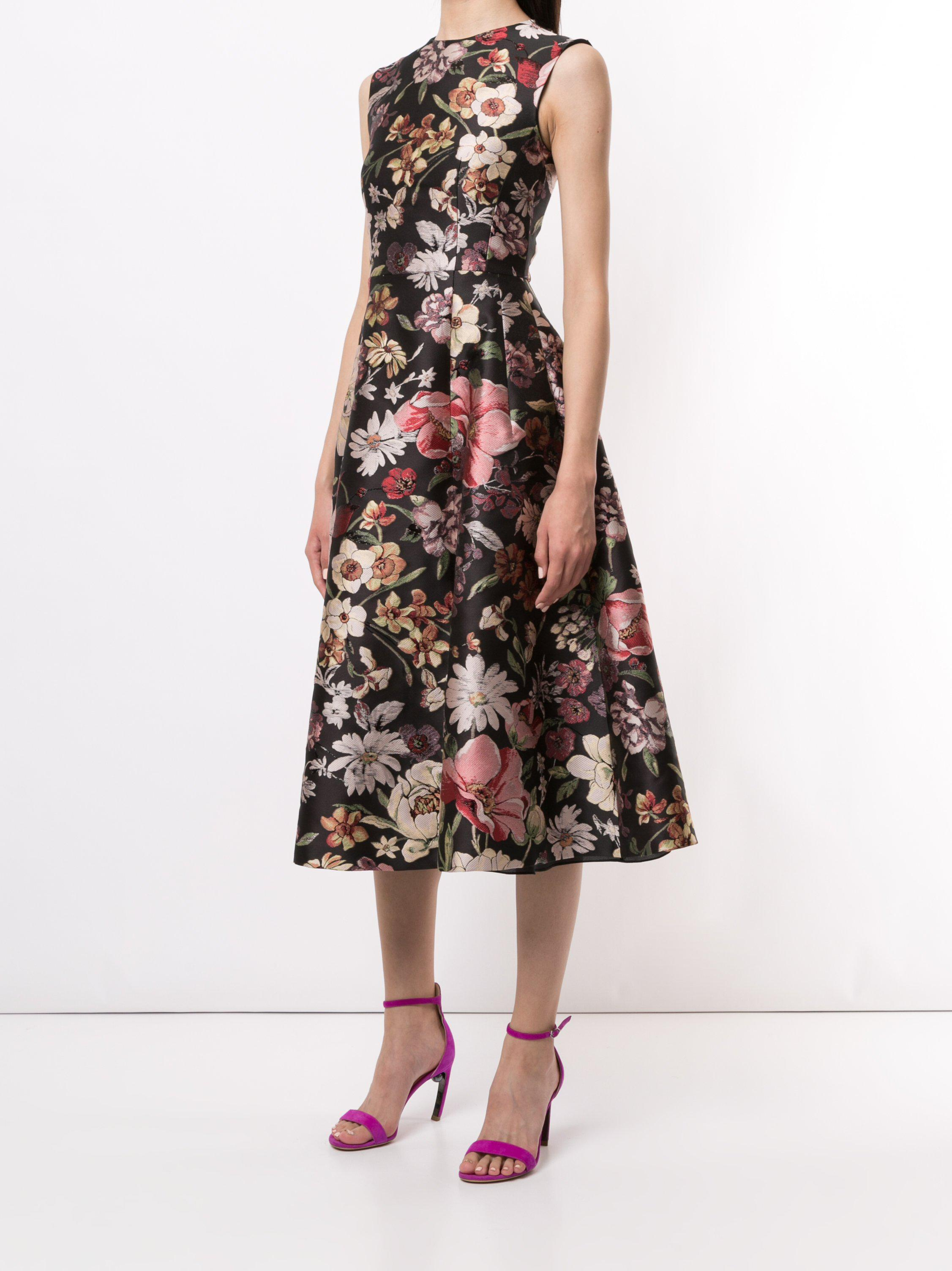 FIT AND FLARE DRESS IN JACQUARD 2