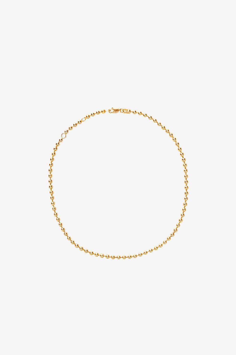Beaded Necklace - Gold
