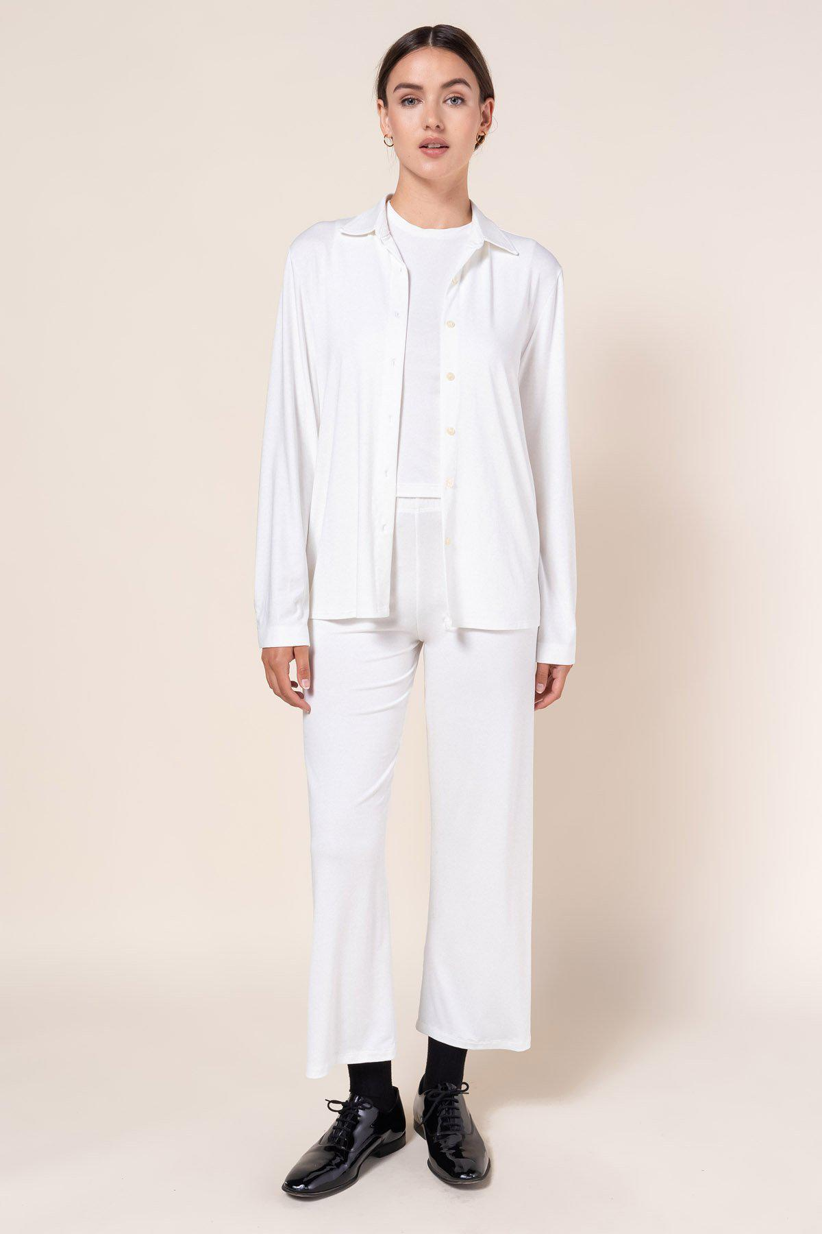 Dylan Fitted Button Down - White 2